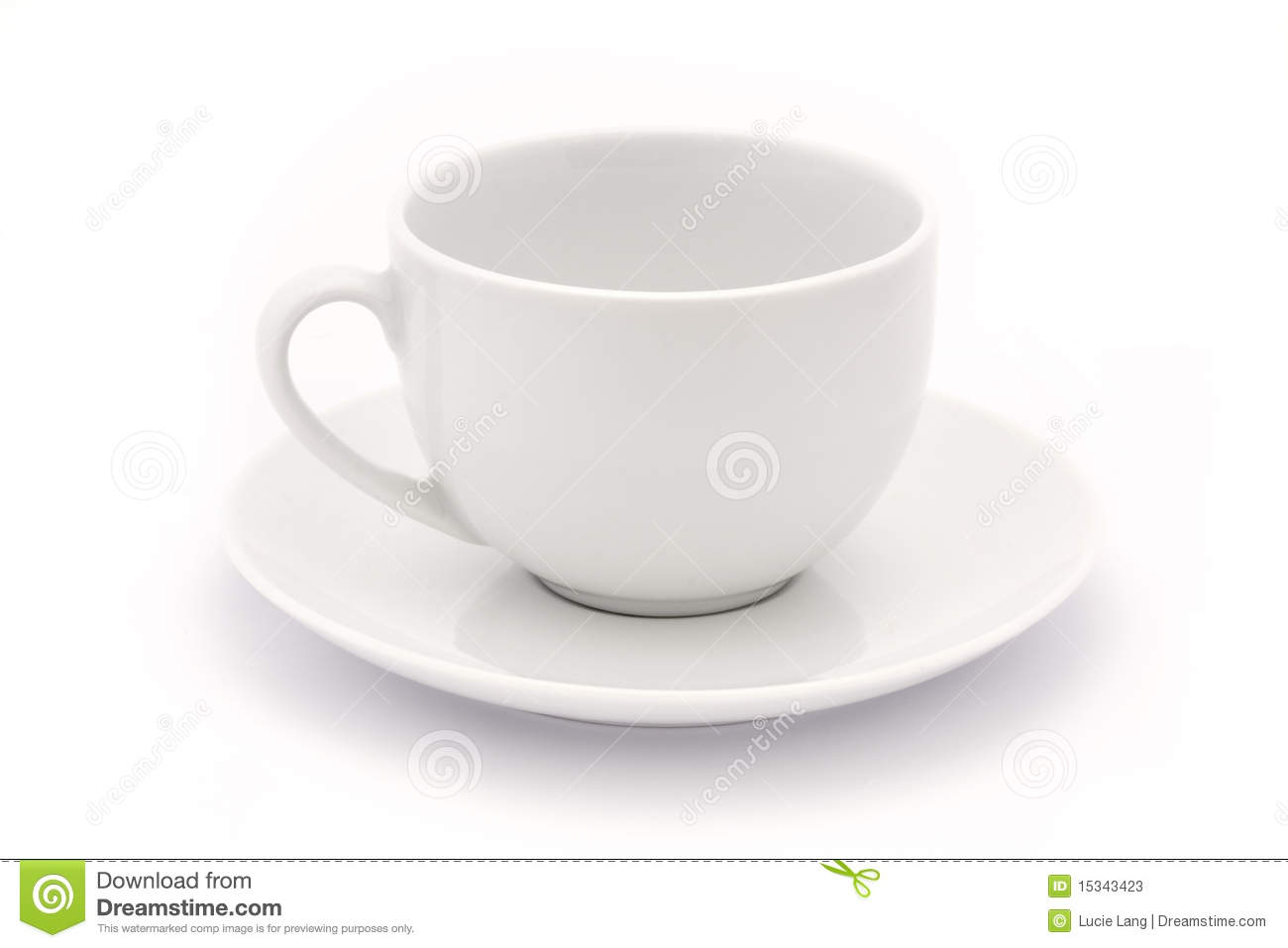 Empty White Tea Cup And Saucer Stock Photos - Image: 15343423