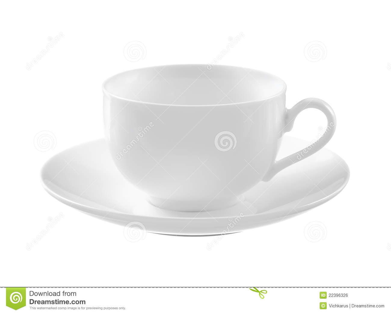 Empty White Tea Cup And Saucer Royalty Free Stock Image ...