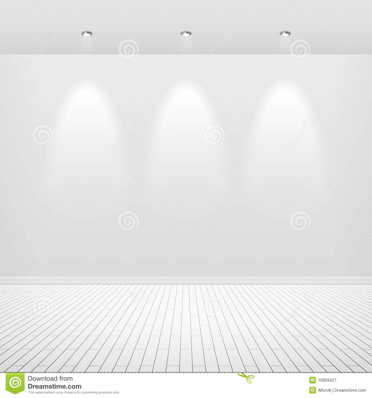 Empty White Wall Royalty Free Stock Photography Image