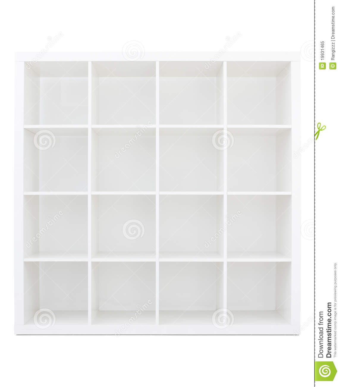 Empty White Wooden Bookshelf Royalty Free Stock Photo - Image ...
