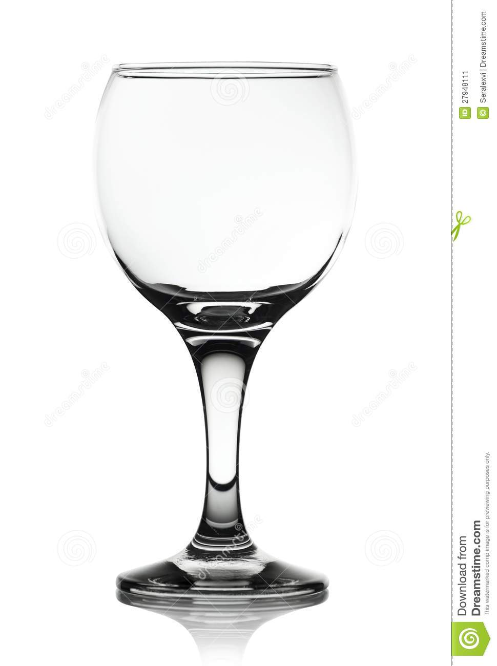Clear Glass Cup On White Background