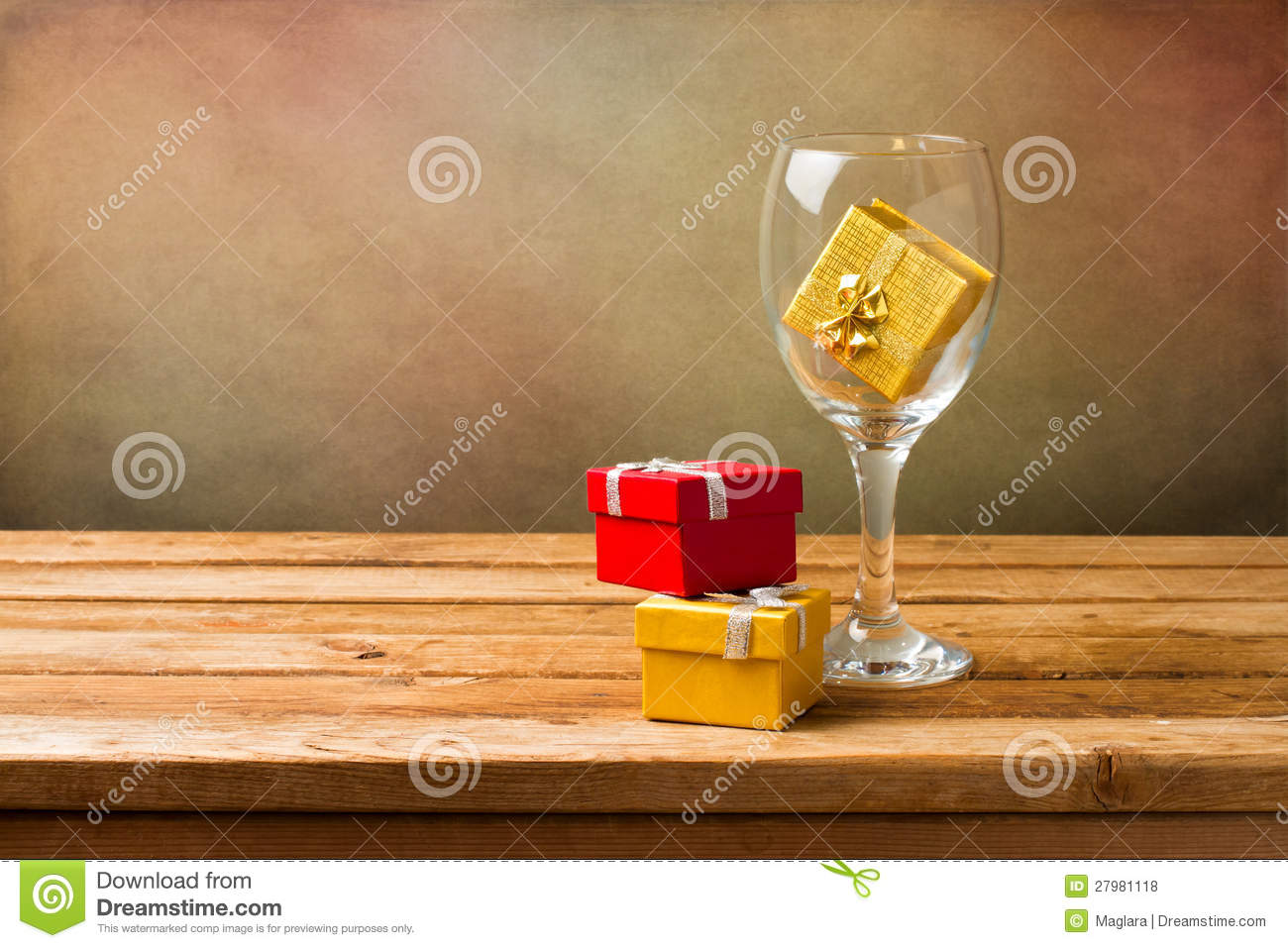 Empty wine glass with gift boxes stock photo image 27981118 for Empty wine crates