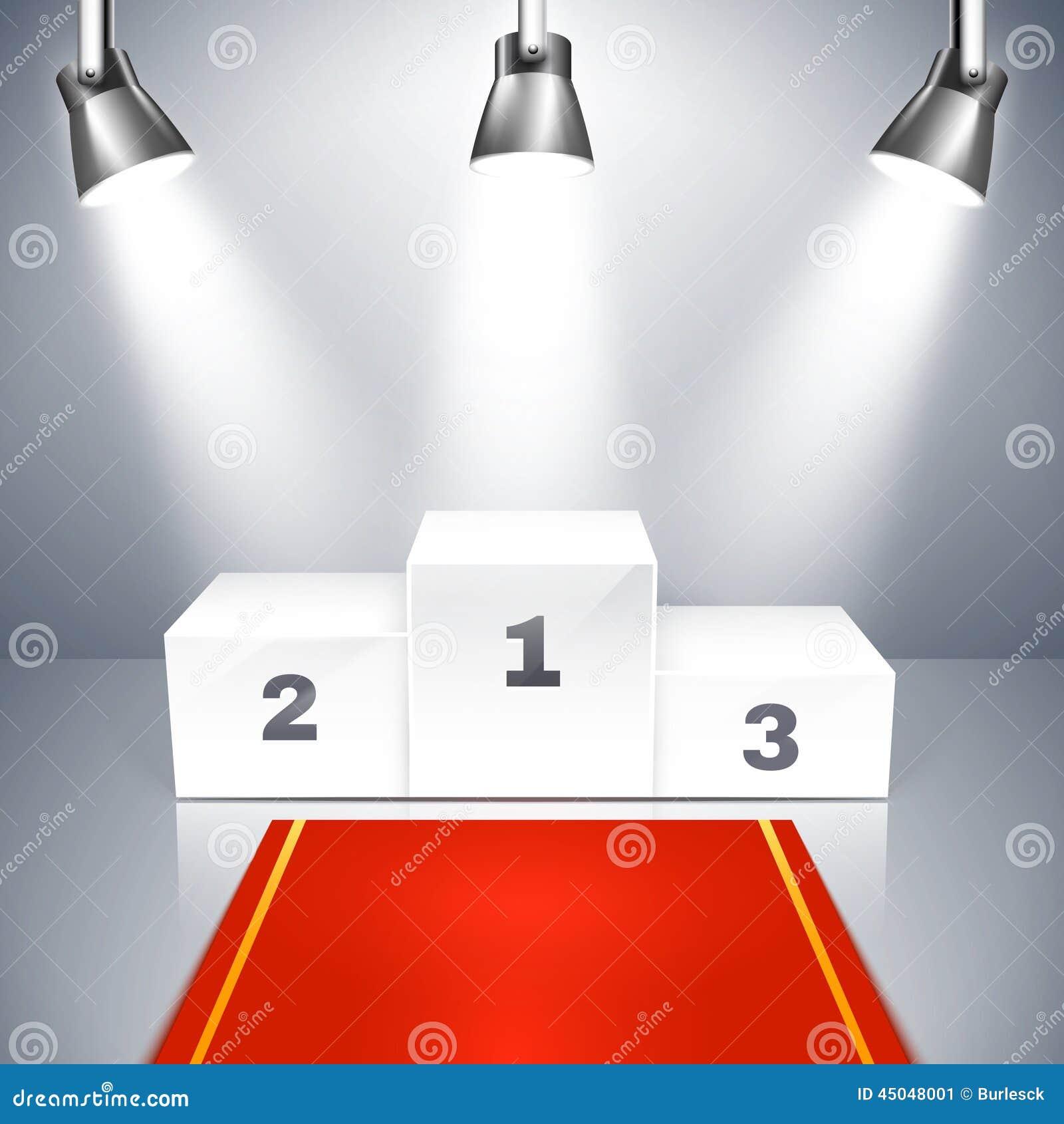 Empty Winners Podium With Spotlights Stock Vector - Image: 45048001