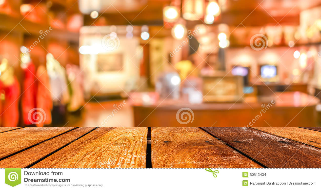 Empty Wood Table And Coffee Shop Blur Background With Bokeh Imag Stock Photo Image 50513434