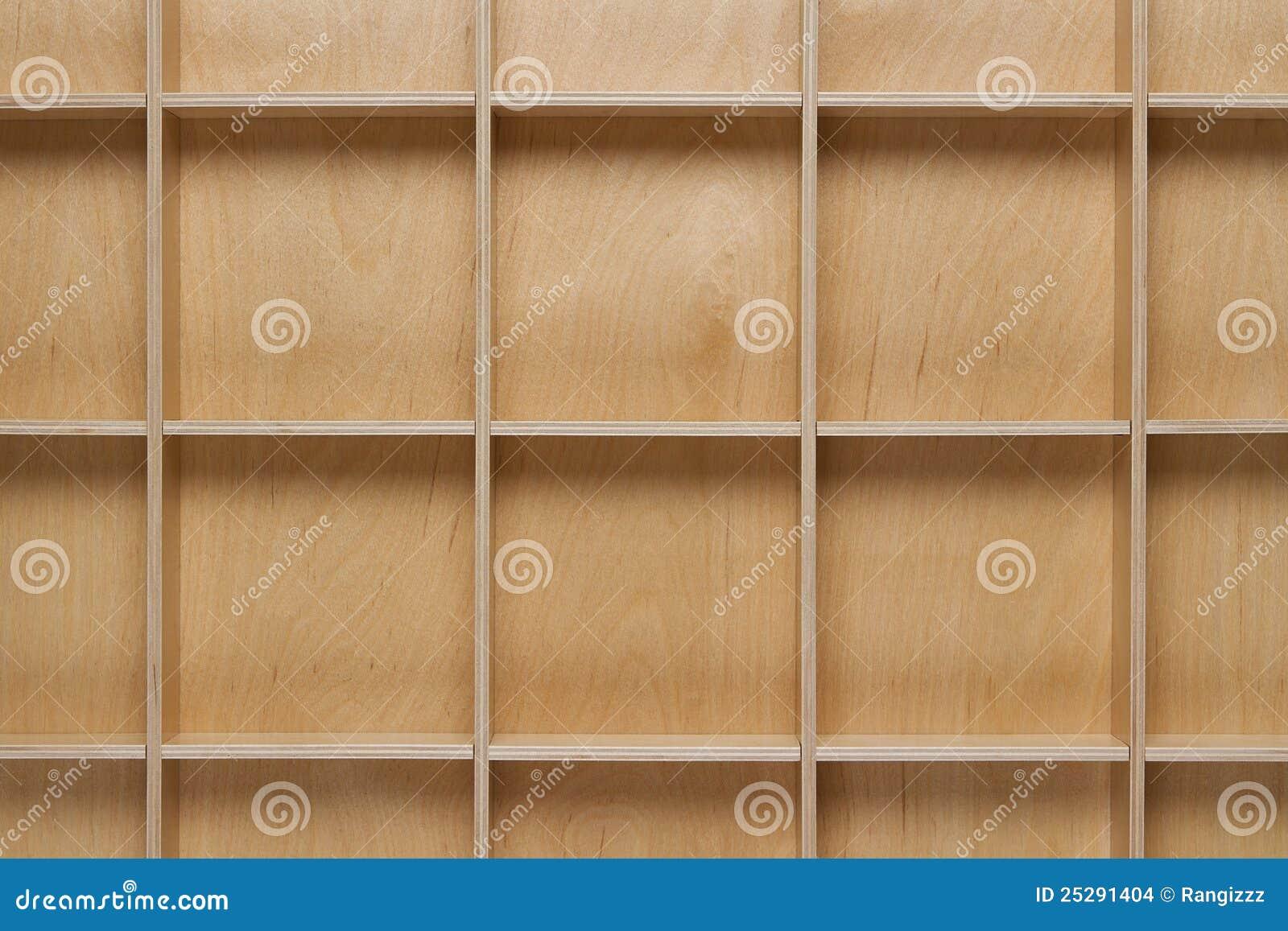 Empty Wooden Bookshelf Stock Images Image 25291404