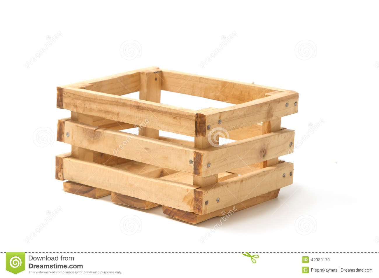 Empty wooden fruit crate stock photo image 42339170 for Wooden fruit crates