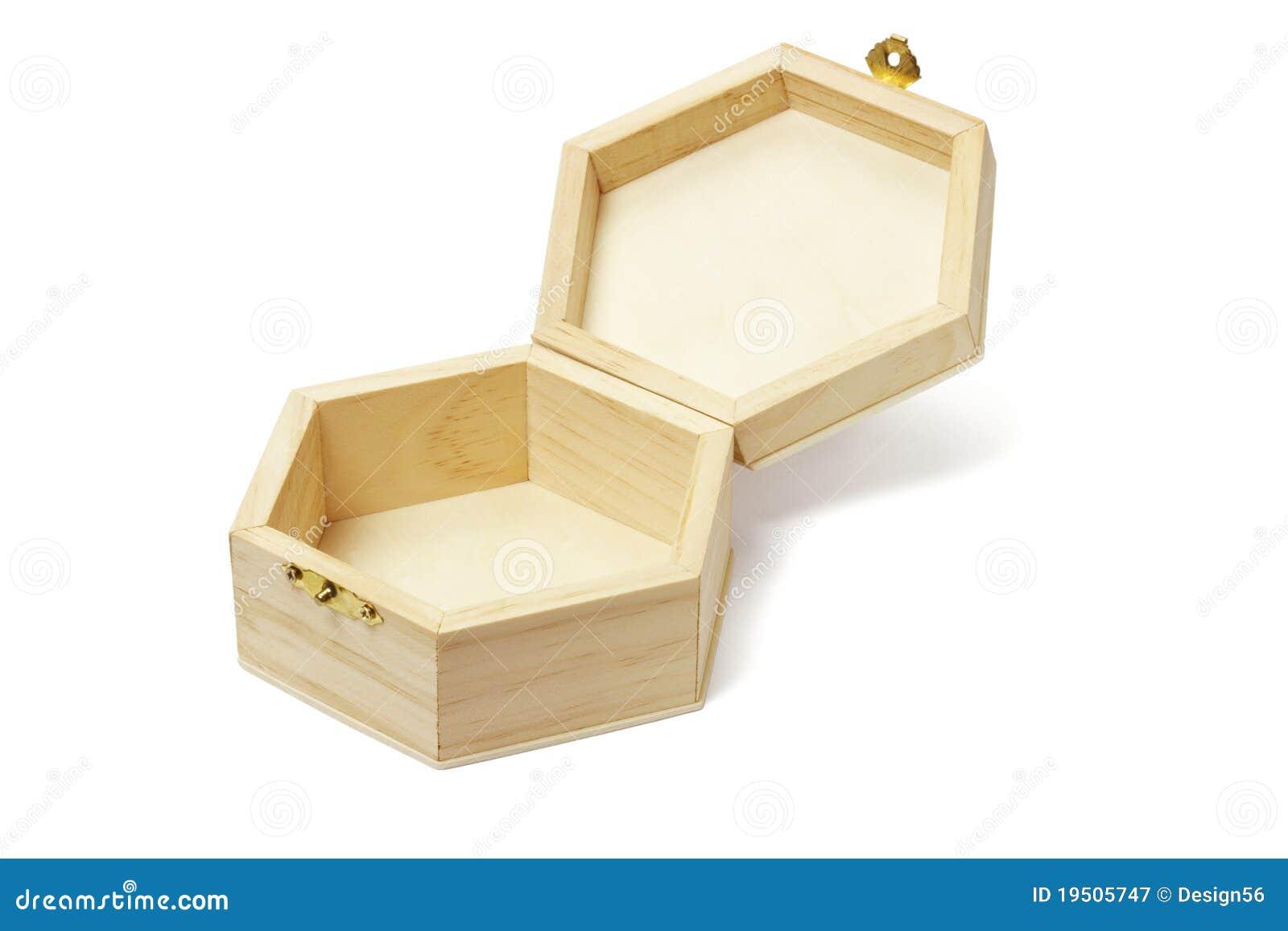 ... Free Stock Photography: Empty wooden hexagonal shape storage box