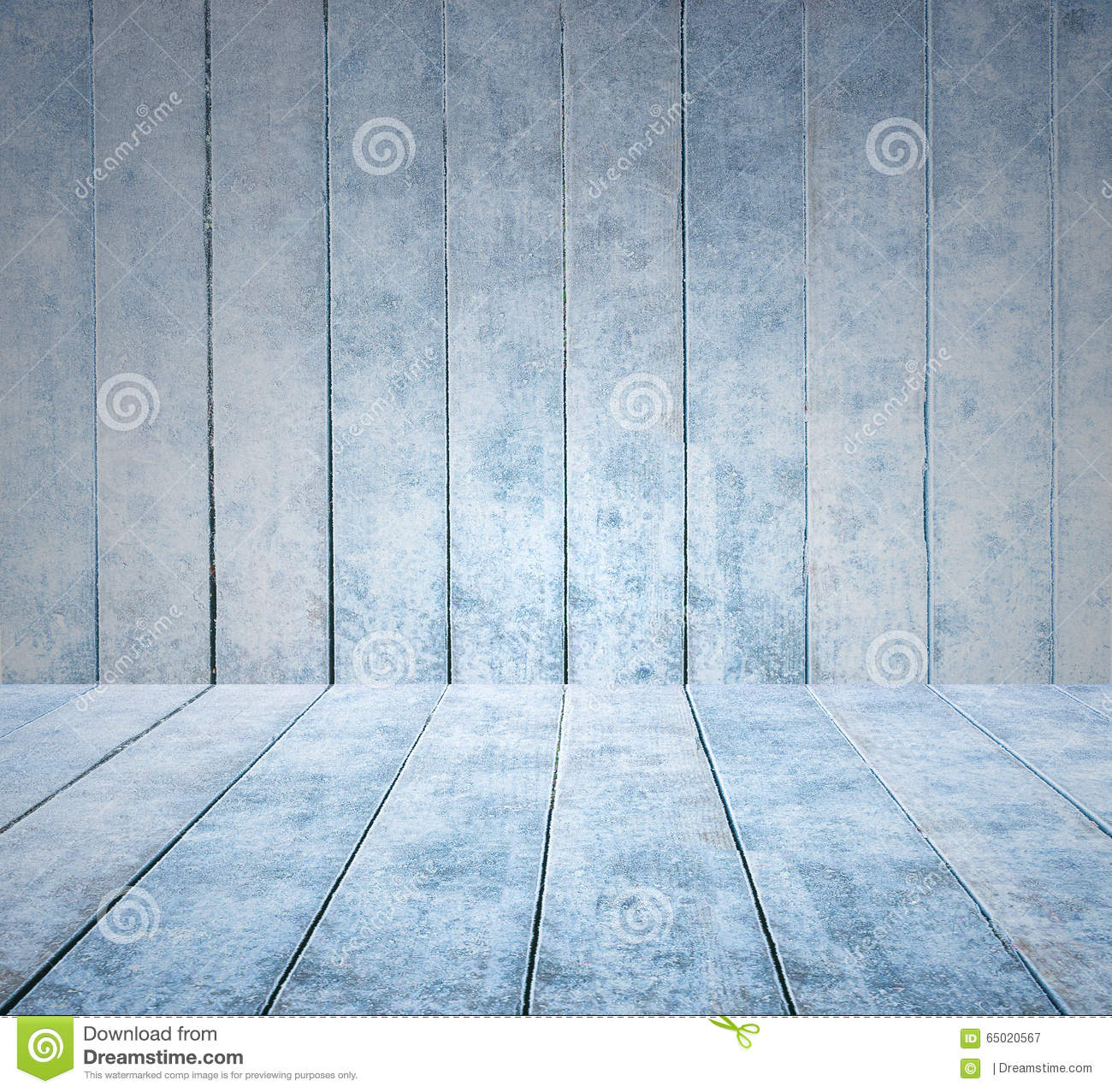 Empty Wooden Ice Panel Background And Wooden Ice Floor Or