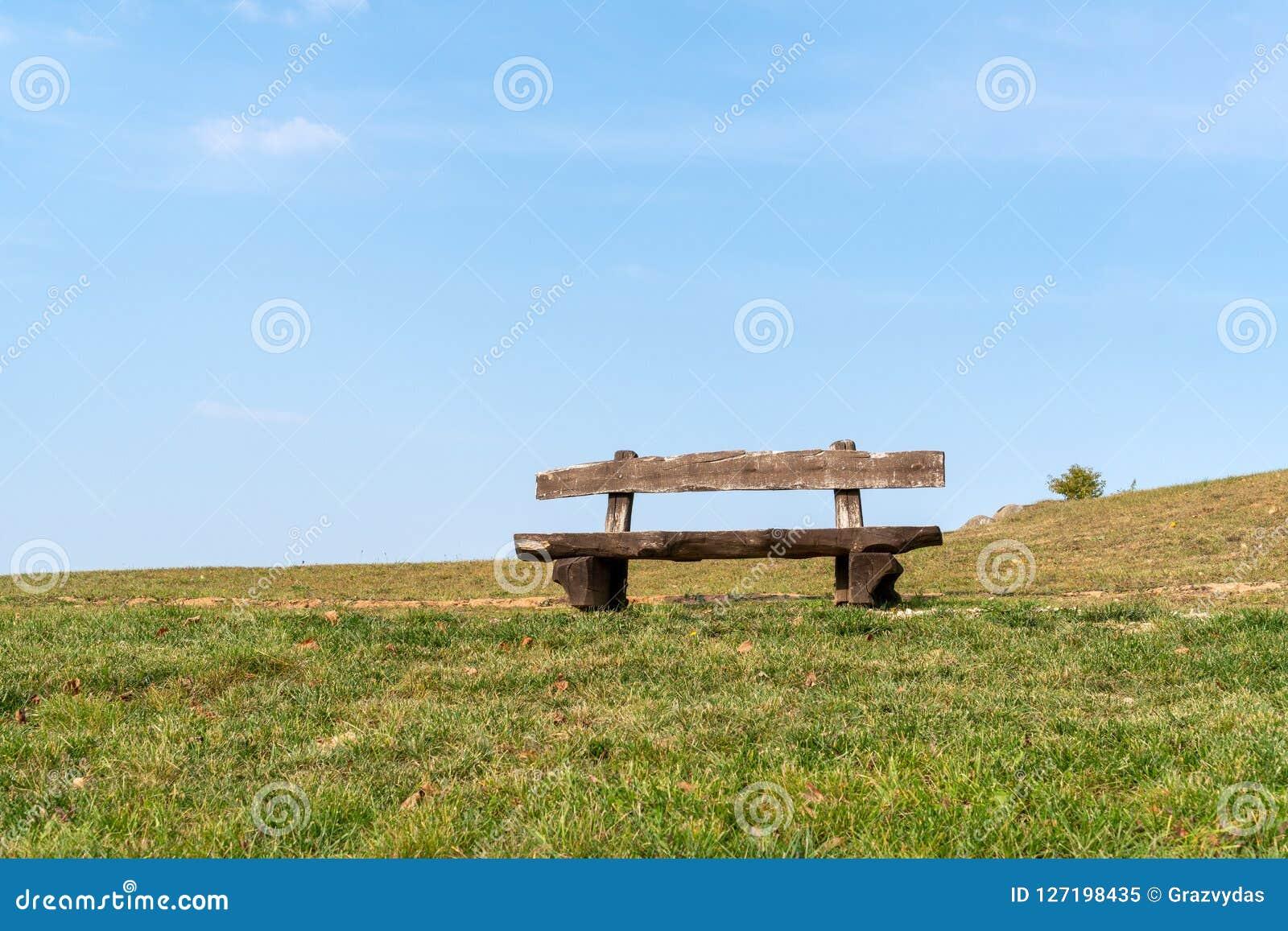 Enjoyable Empty Wooden Park Bench Stock Image Image Of Relaxation Ibusinesslaw Wood Chair Design Ideas Ibusinesslaworg