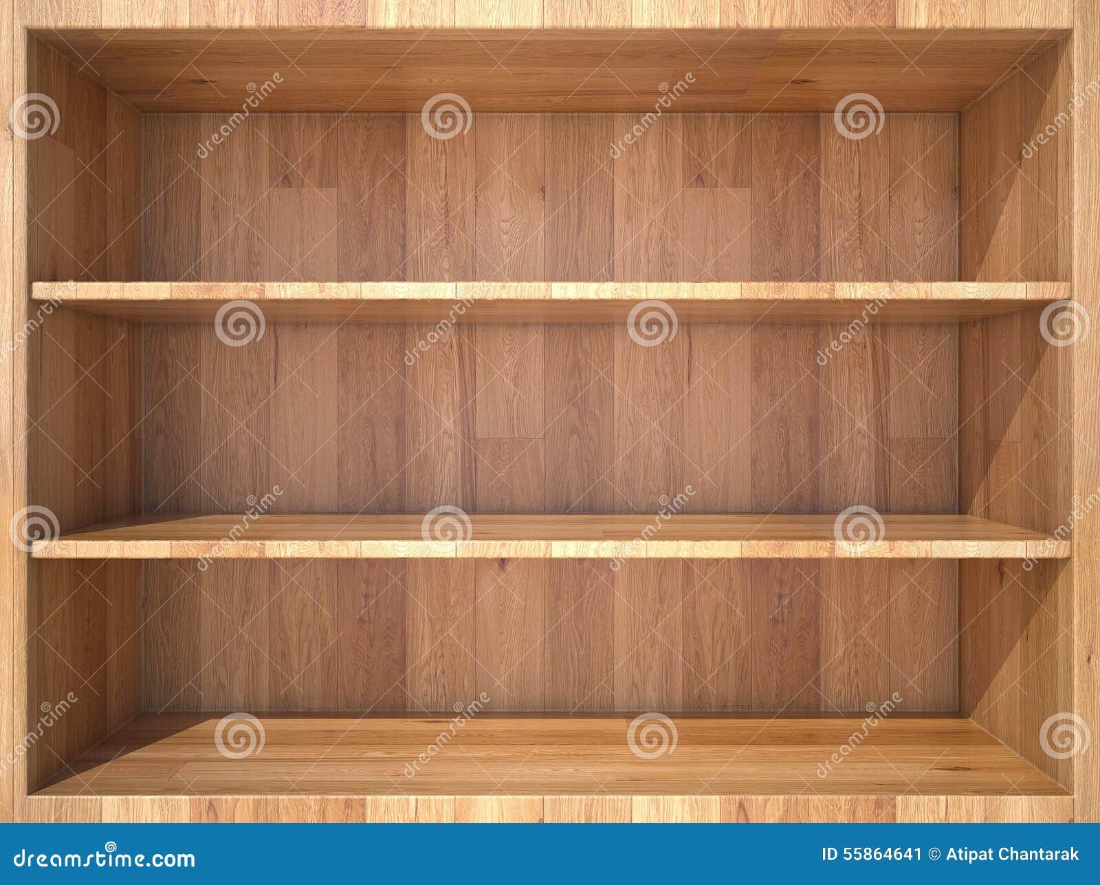 Empty Wooden Shelf Stock Image Image Of Background Store