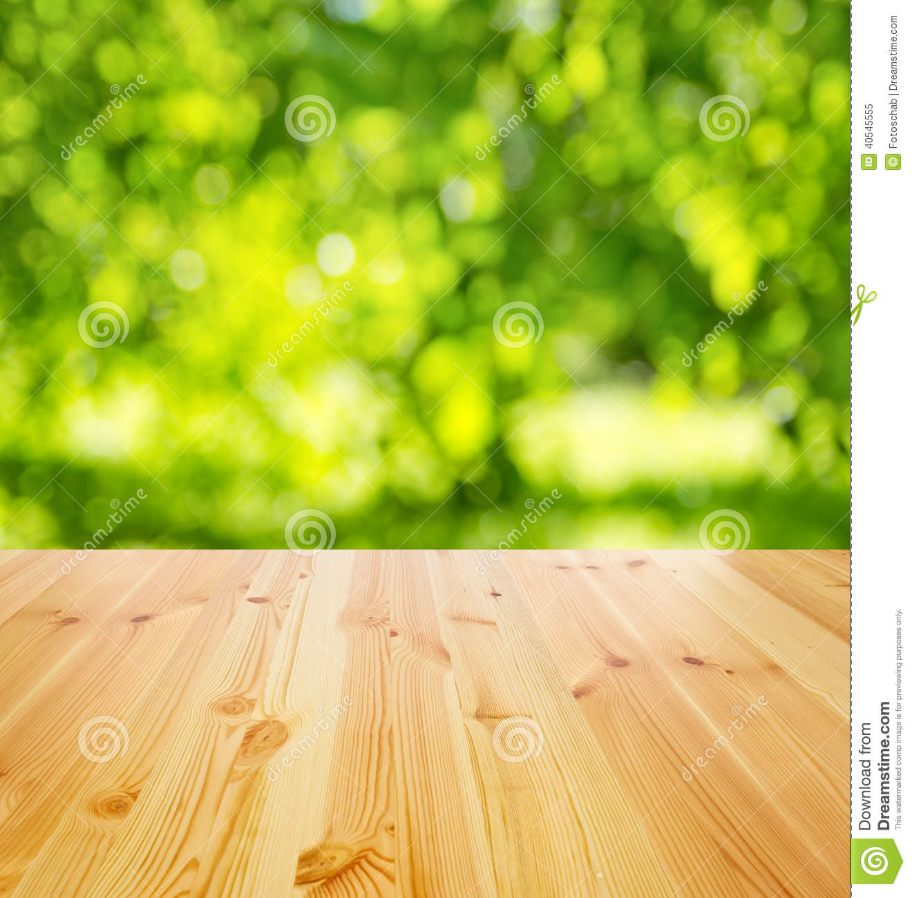 Empty Wooden Table Stock Photo Image 40545555
