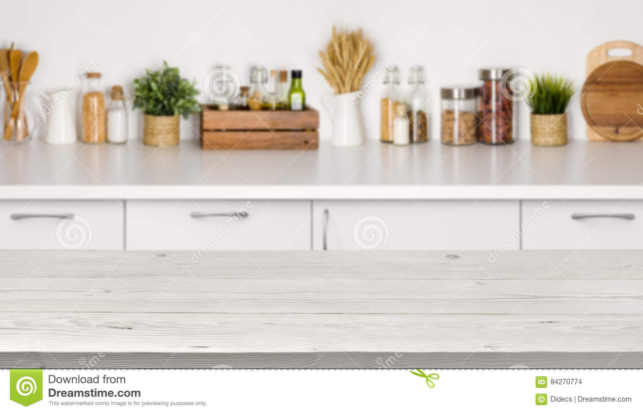 Wondrous Empty Wooden Table With Bokeh Image Of Kitchen Bench Lamtechconsult Wood Chair Design Ideas Lamtechconsultcom