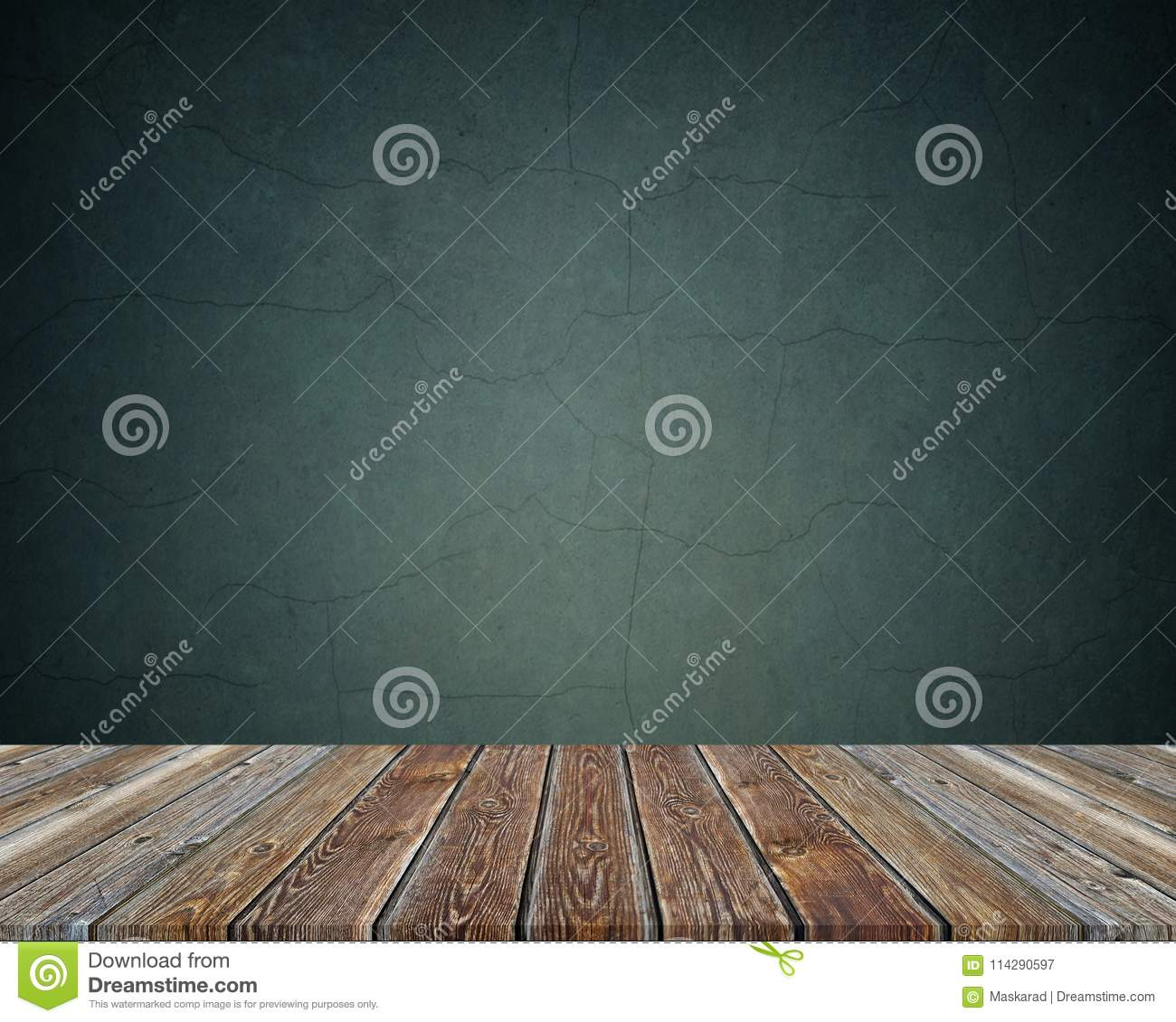 Empty wooden table over dark background. texture.