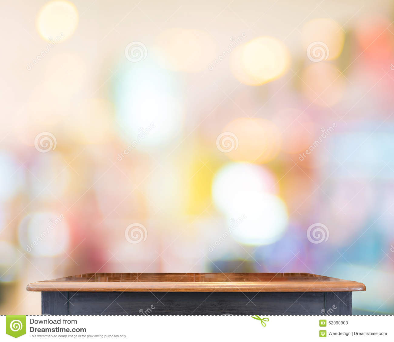 Empty wooden table top with blur store background template mock empty wooden table top with blur store background template mock maxwellsz