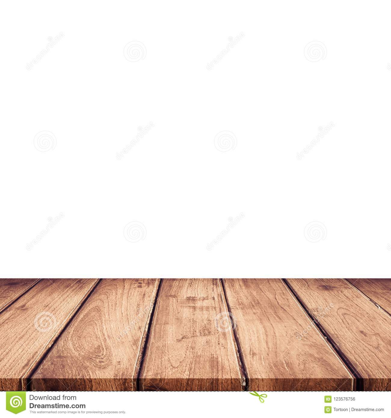 Empty wooden table top on isolated white template mock up for d empty wooden table top on isolated white template mock up for d maxwellsz