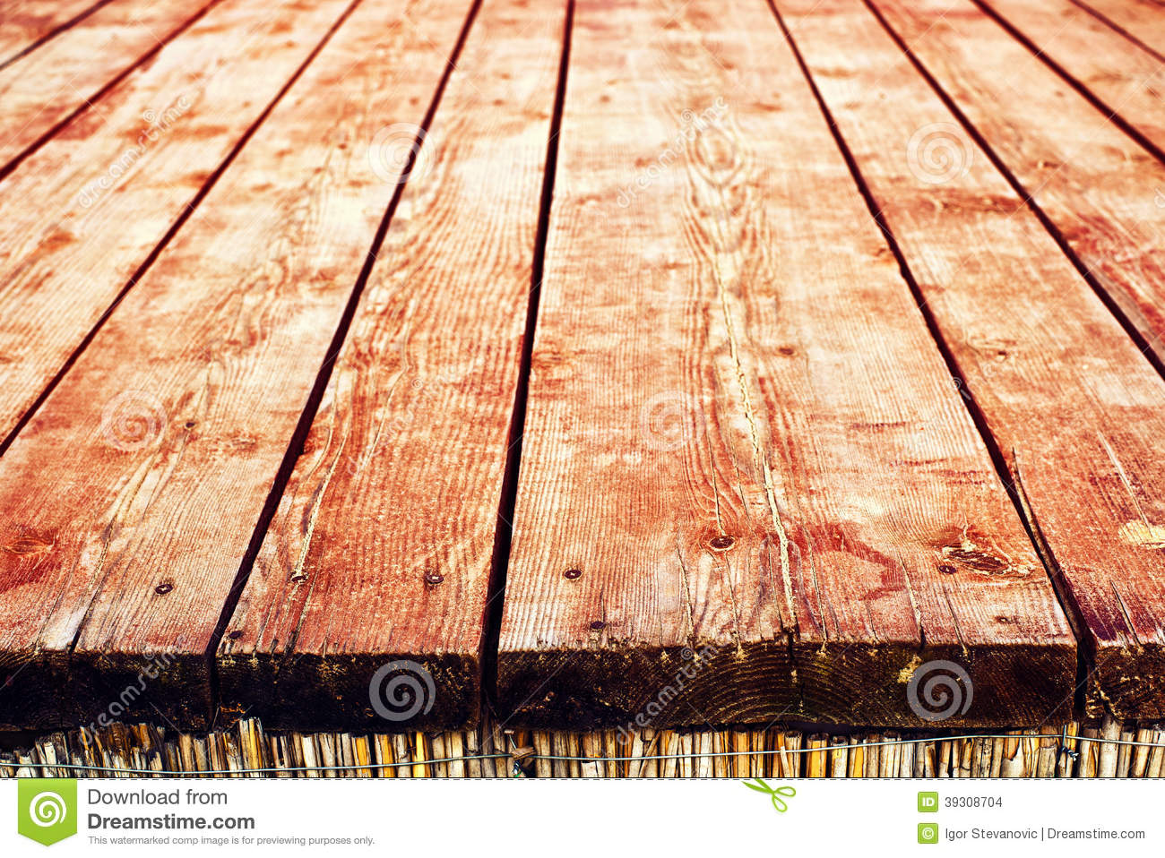 Old wooden table top - Empty Wooden Table Top