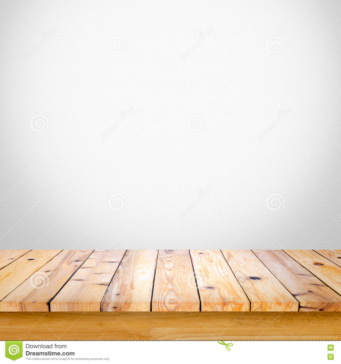 Background image table - Empty Wooden Table With White Gray Gradient Wall Background Stock Photo