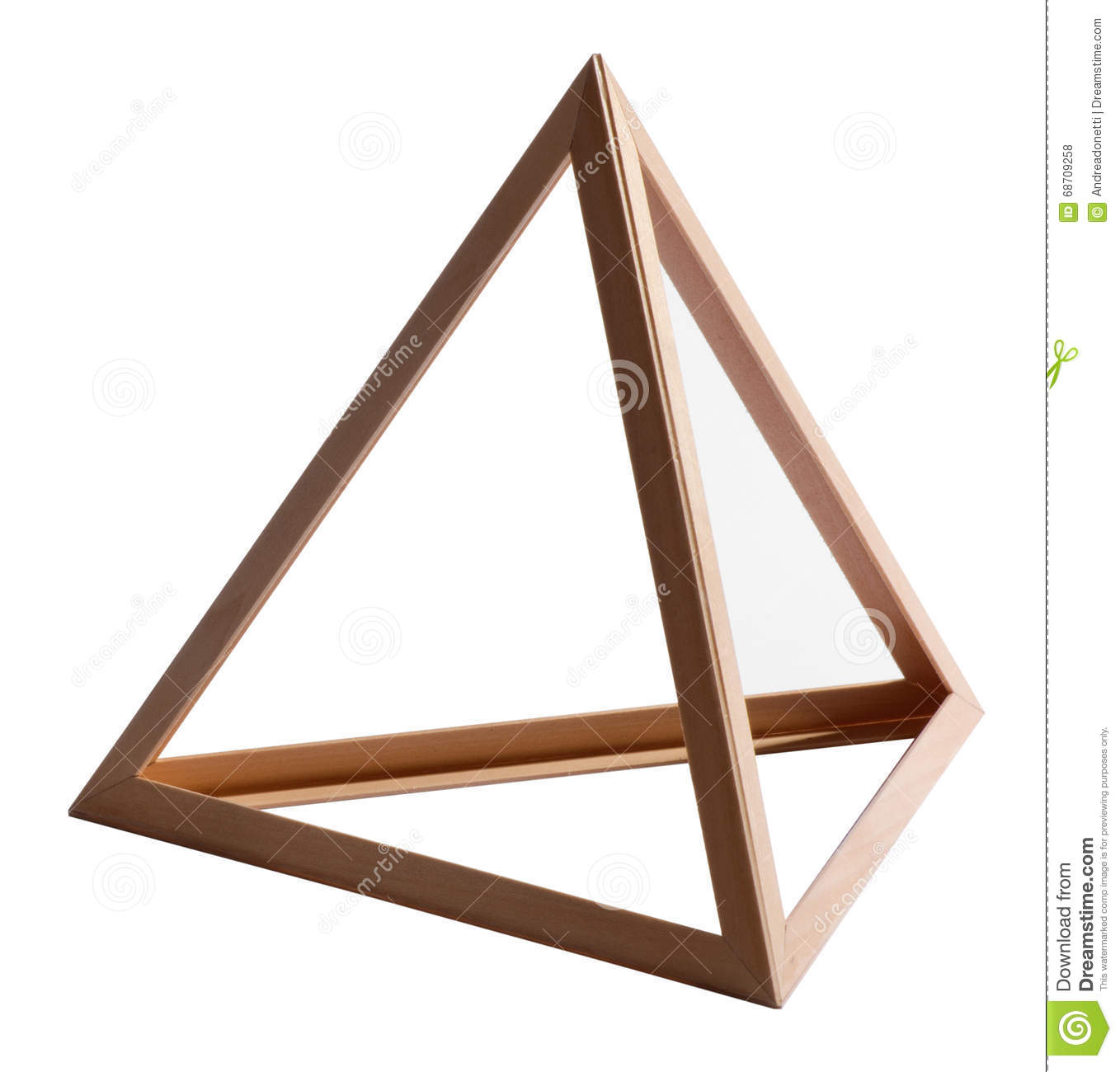 Empty Wooden Triangle Frame On White Stock Photo - Image of triangle ...