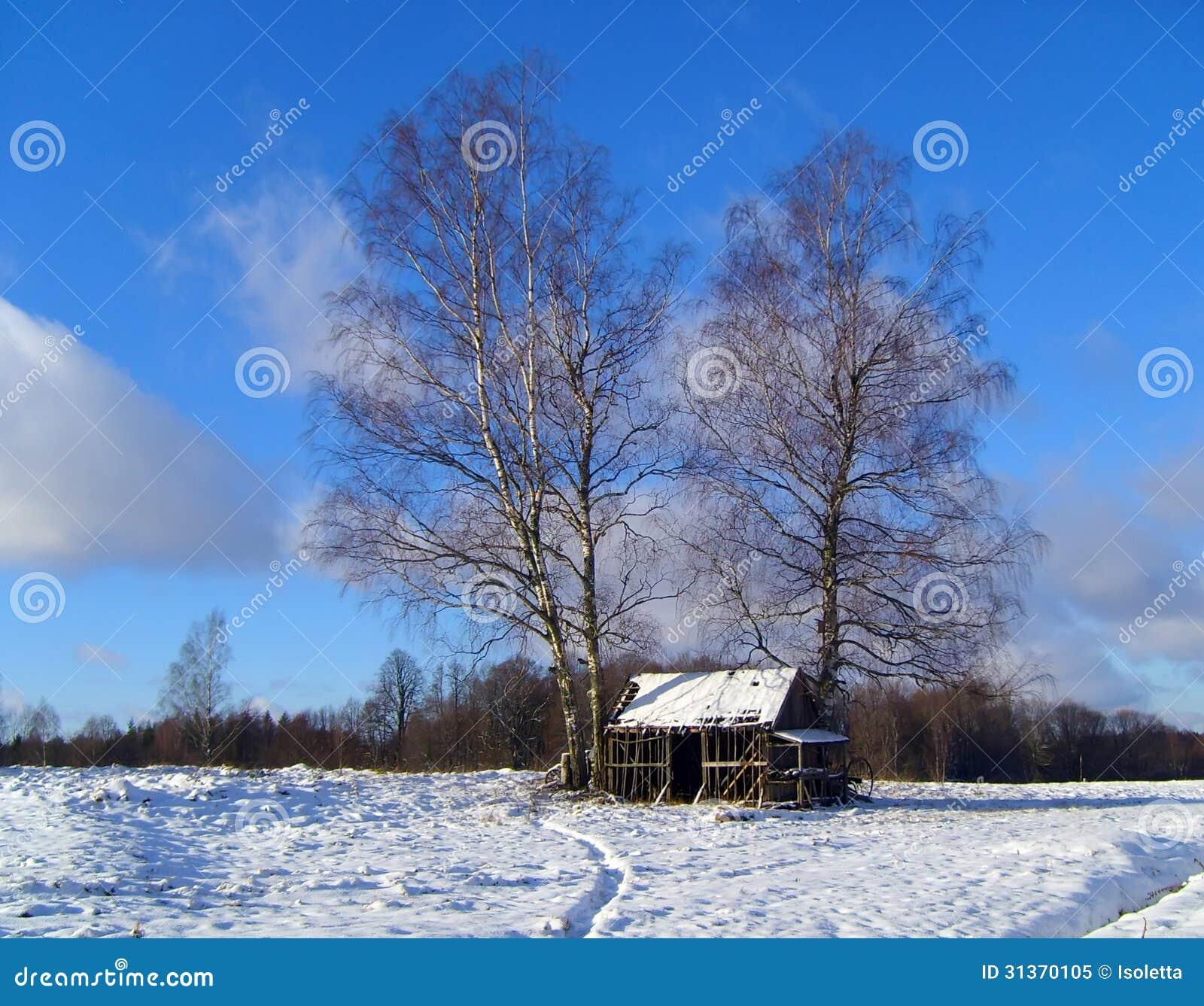 Empty Woodshed Royalty Free Stock Photo Image 31370105
