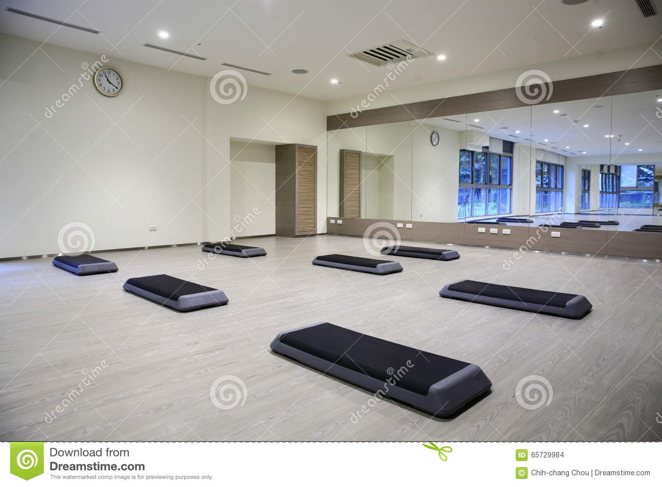 Empty Yoga Classroom Stock Photo Image Of Studio Indoor