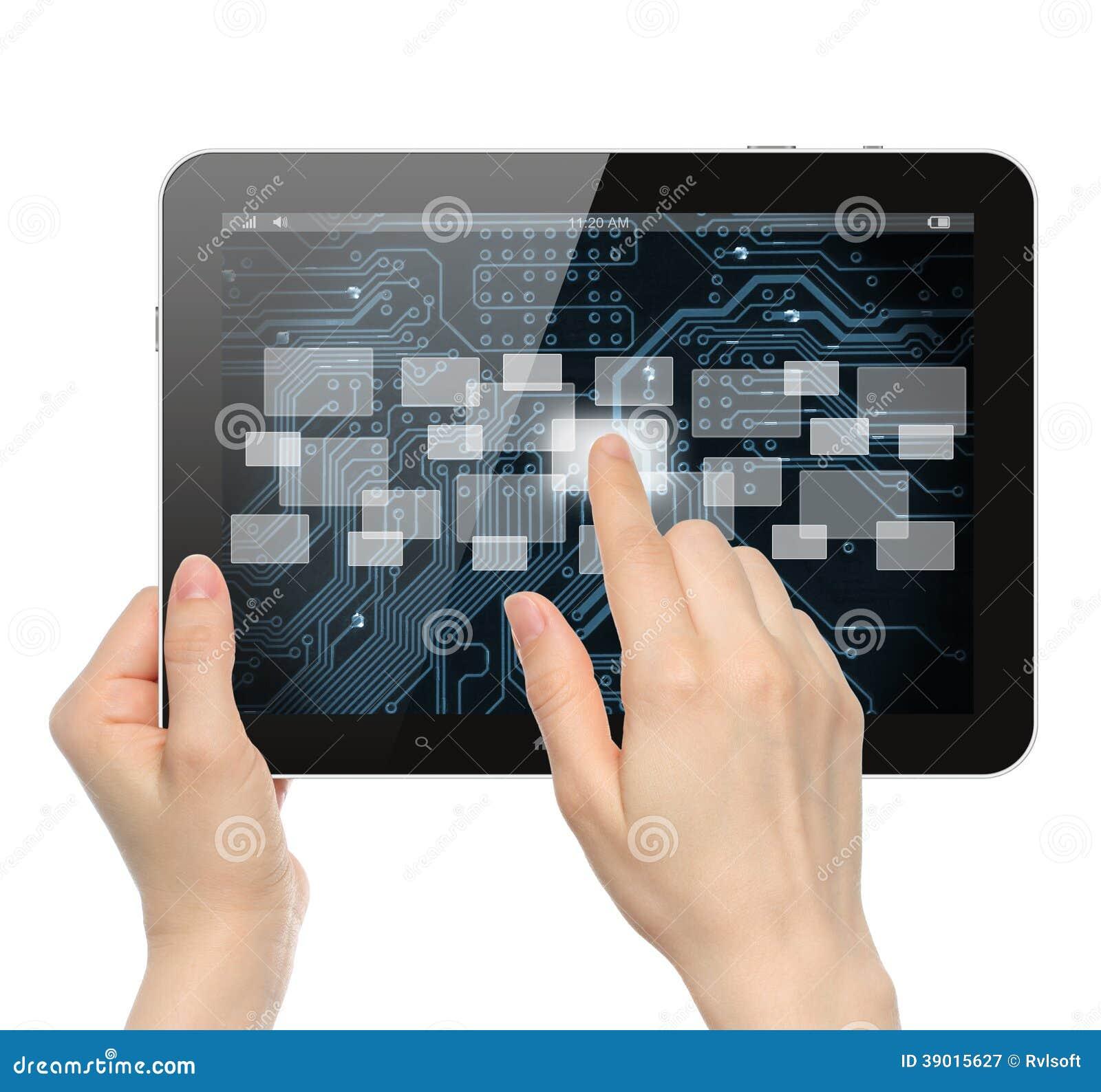 Empujar el botón manualmente virtual