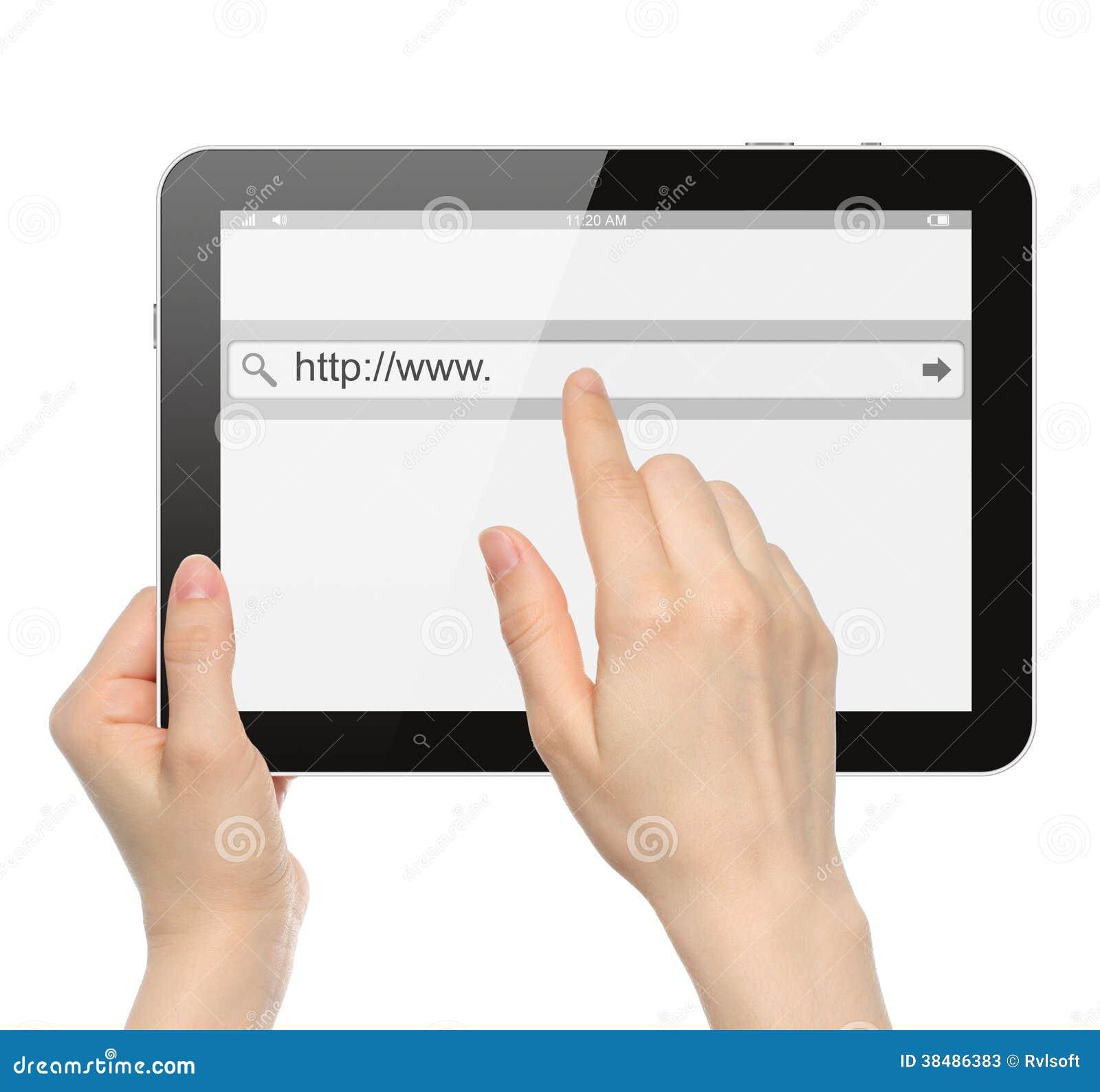 Empujar la barra virtual de la búsqueda manualmente