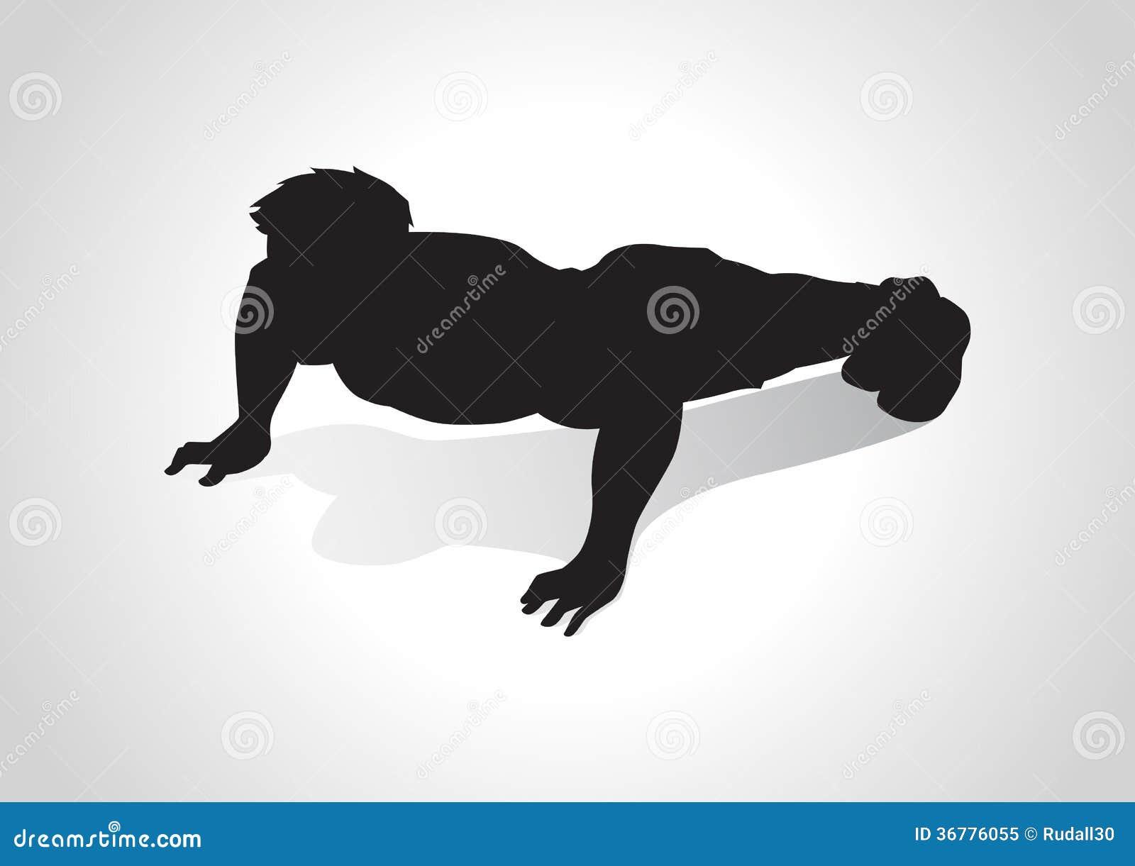 Empuje hacia arriba ilustración del vector. Ilustración de ejercicio ...