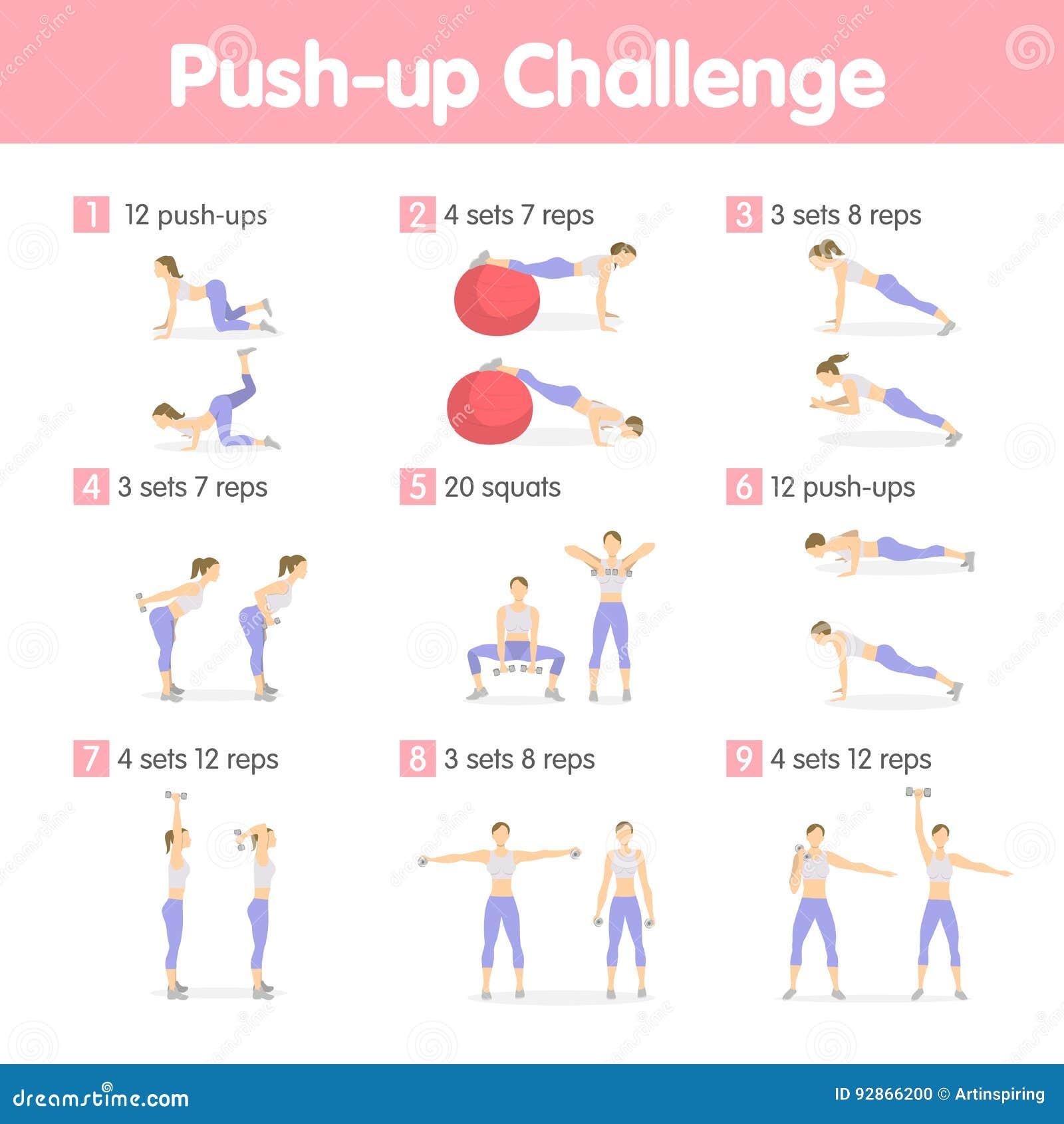 Empuje hacia arriba el desafío