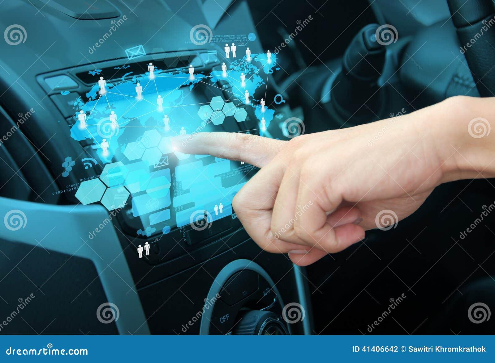 Empurrão em um sistema de navegação da relação do tela táctil