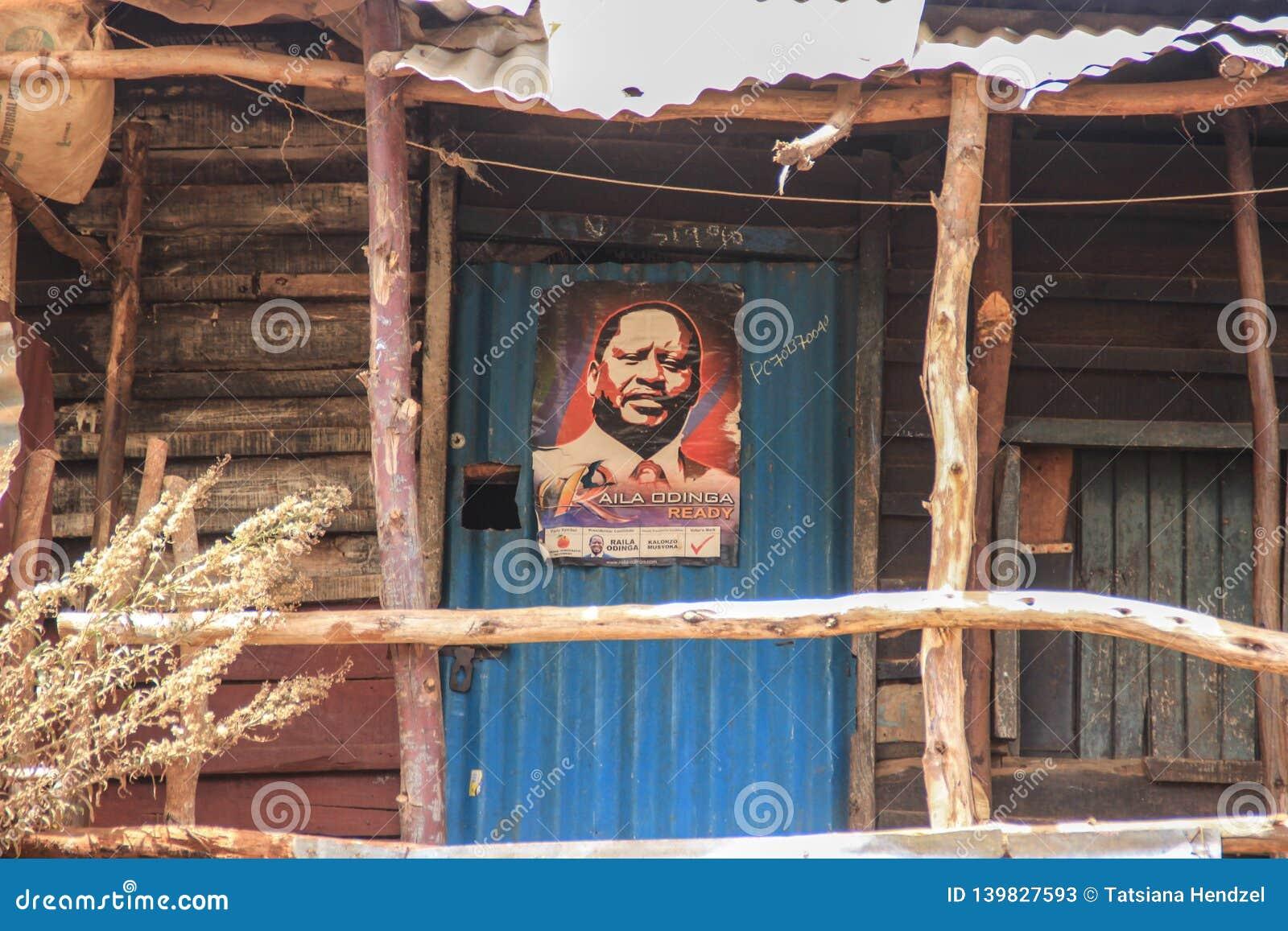 En affisch av en lokal ersättare är ett av de mest fattiga ställena i Afrika
