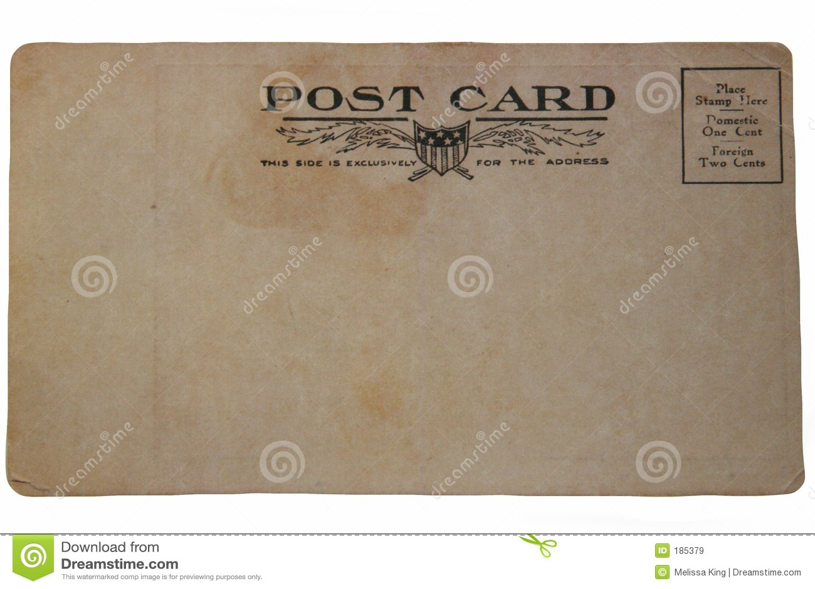 En arrière de la vieille carte postale