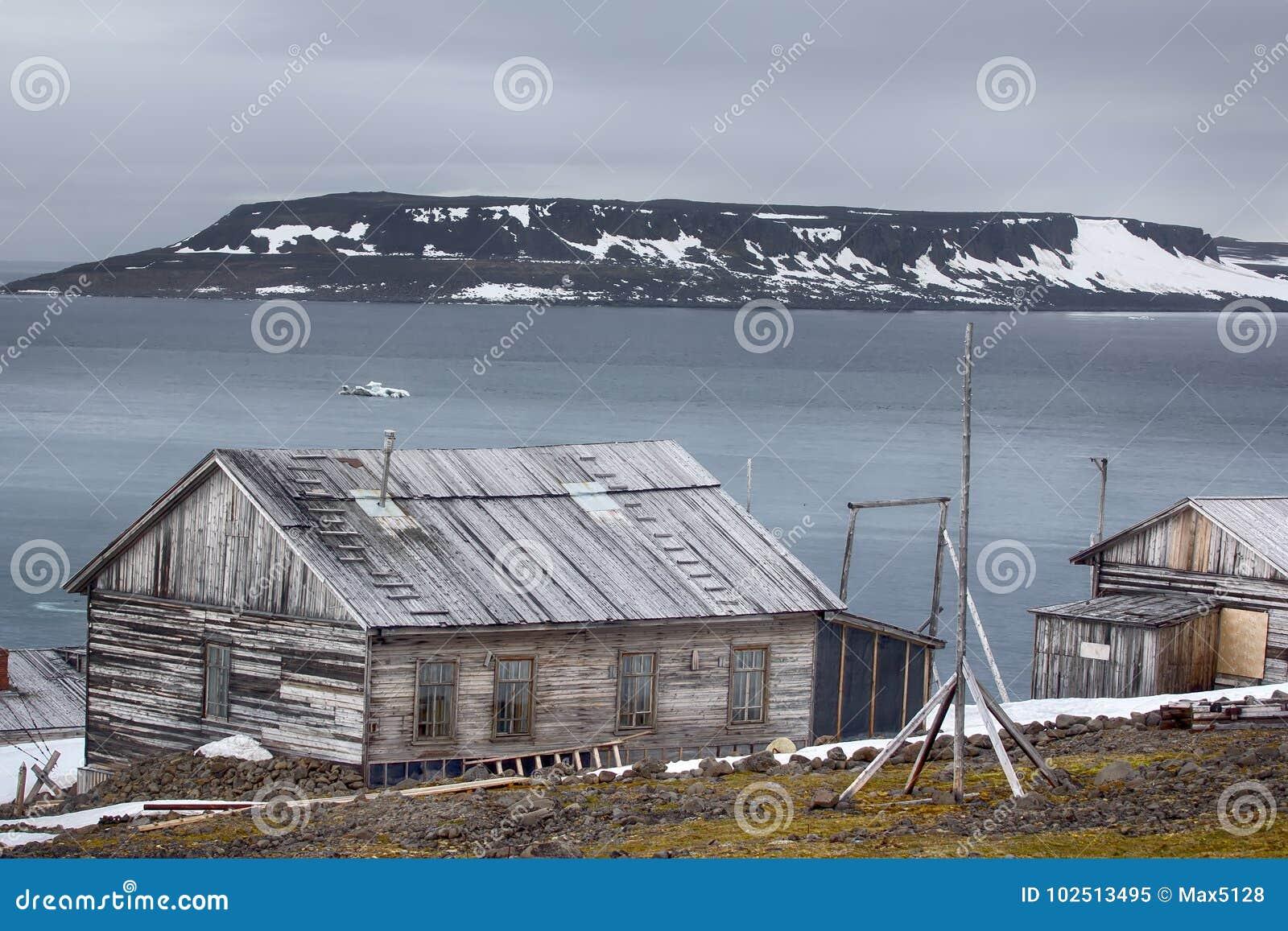 En av äldst polara stationer i arktisk Franz Josef Land