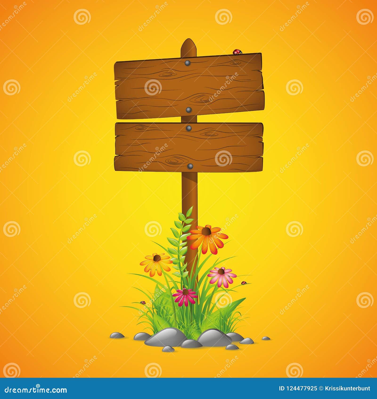 En bois chantez le fond de jaune de printemps