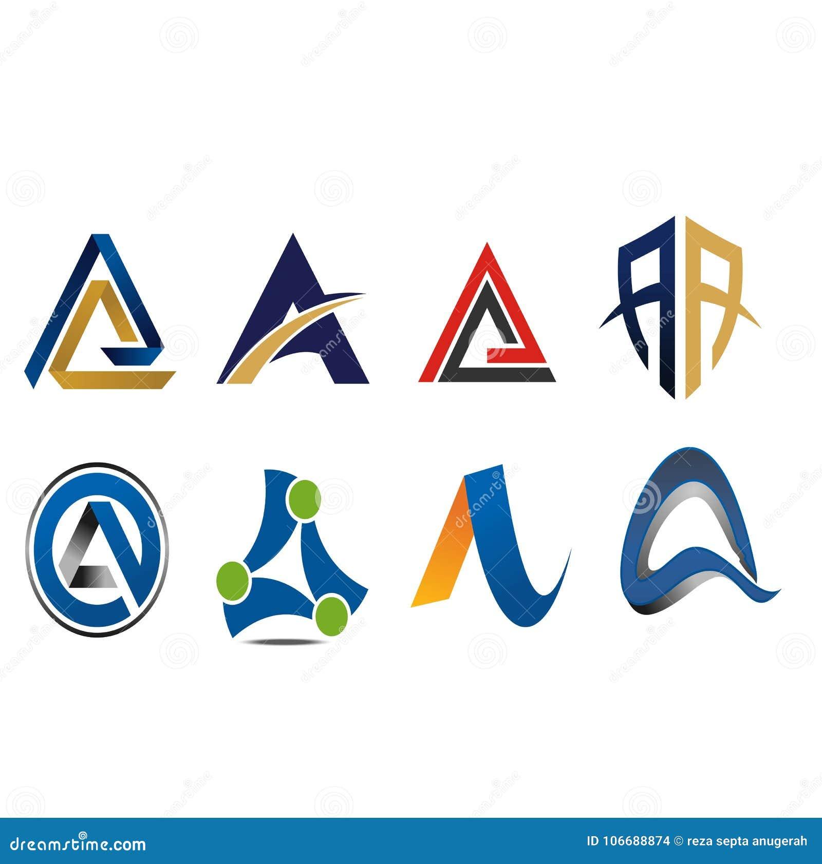 En bokstav Logo Icon Variation