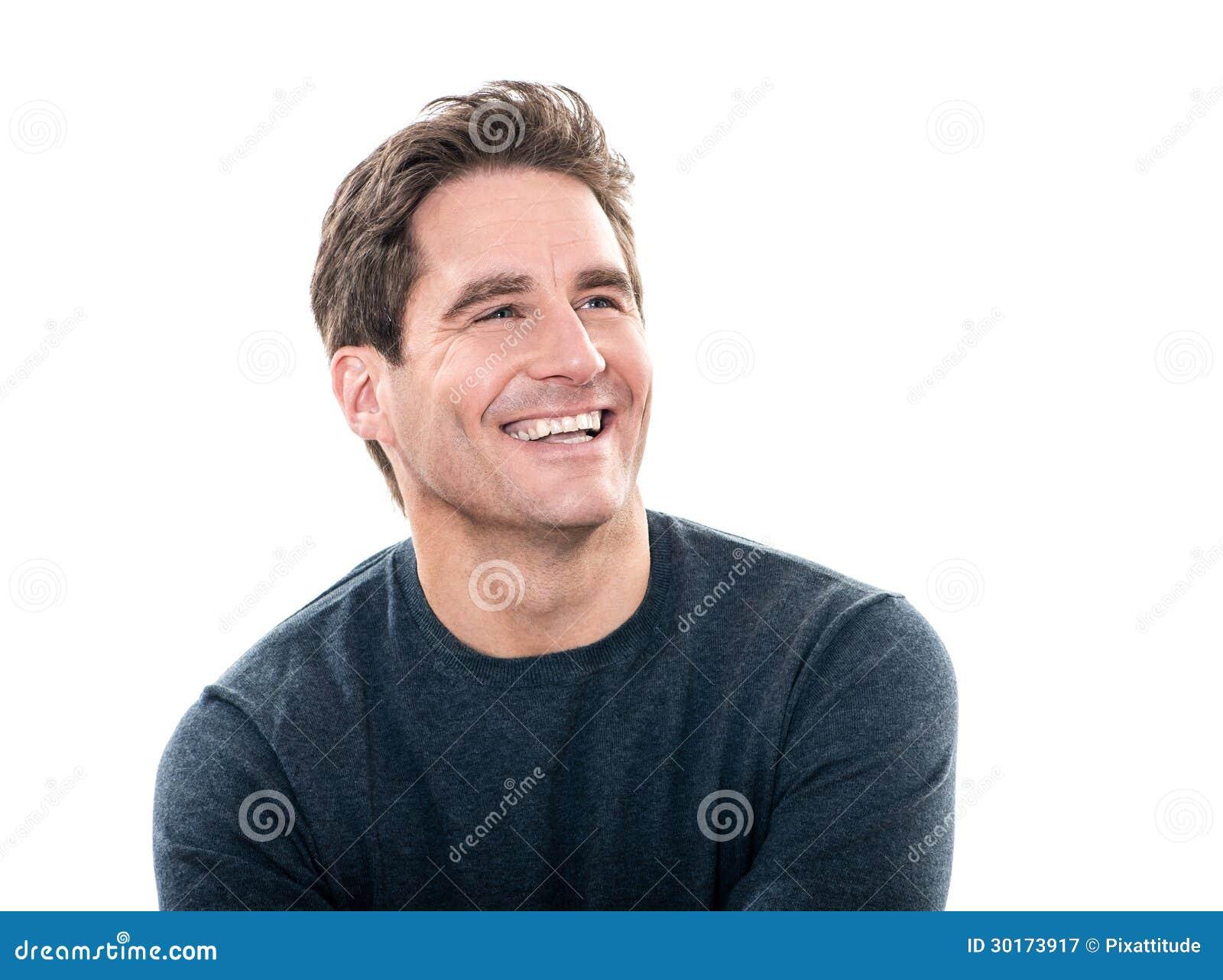 Mogna den skratta ståenden för den stiliga manen