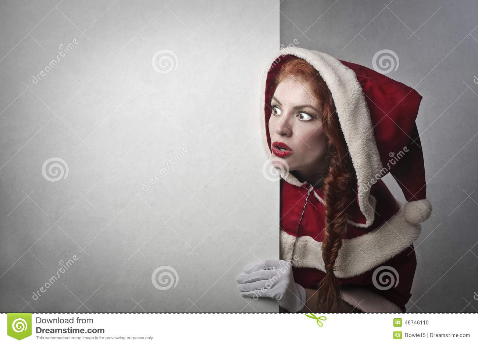 En chockade Santa Claus
