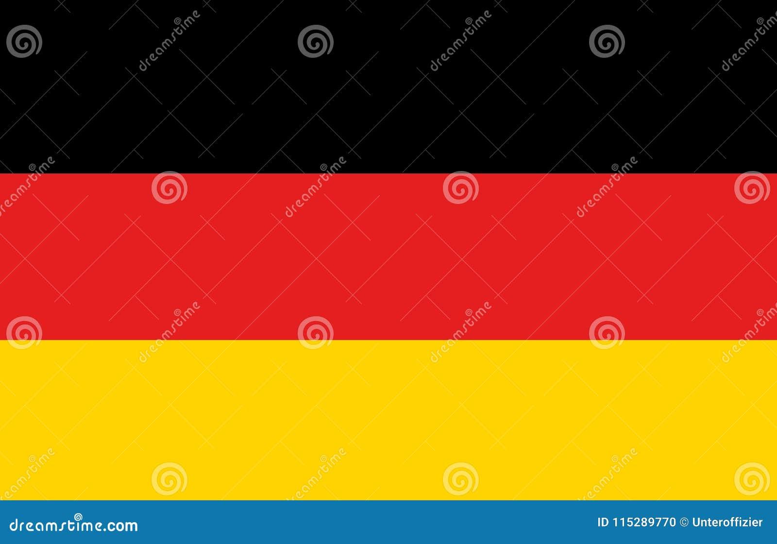 En dator frambragte diagramillustrationen av flaggan av Tyskland