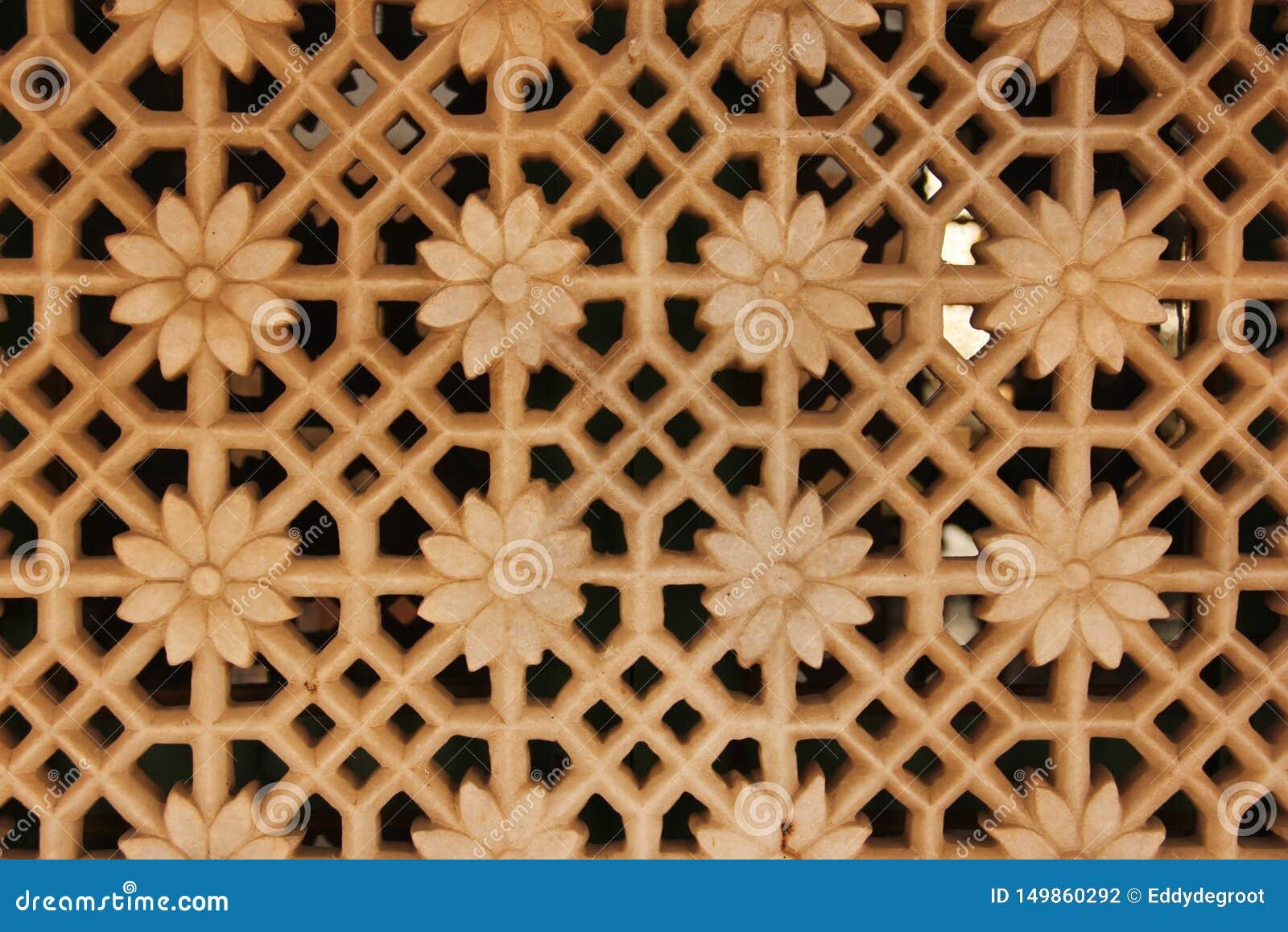 En detaljerad garnering i en Haveli