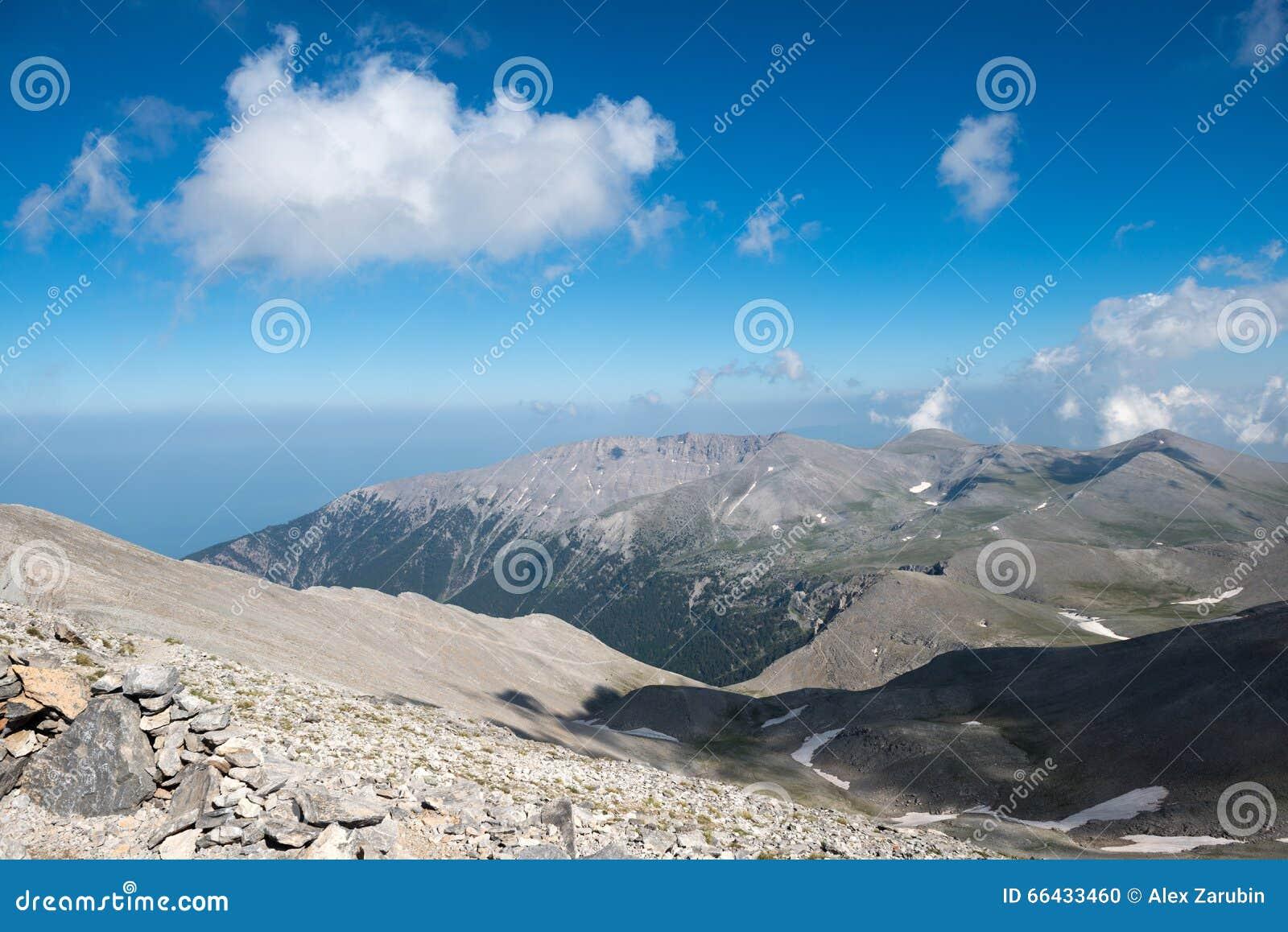 En el top del monte Olimpo