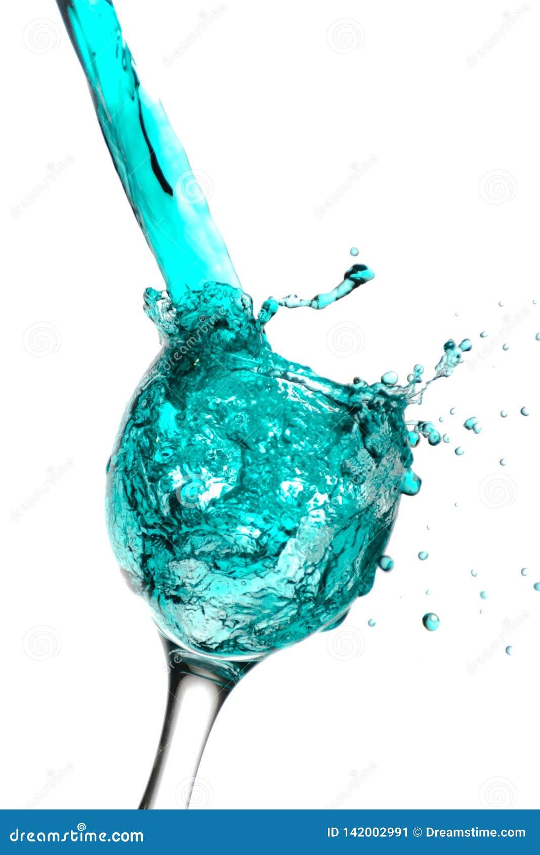 En färgrik vätskeporing