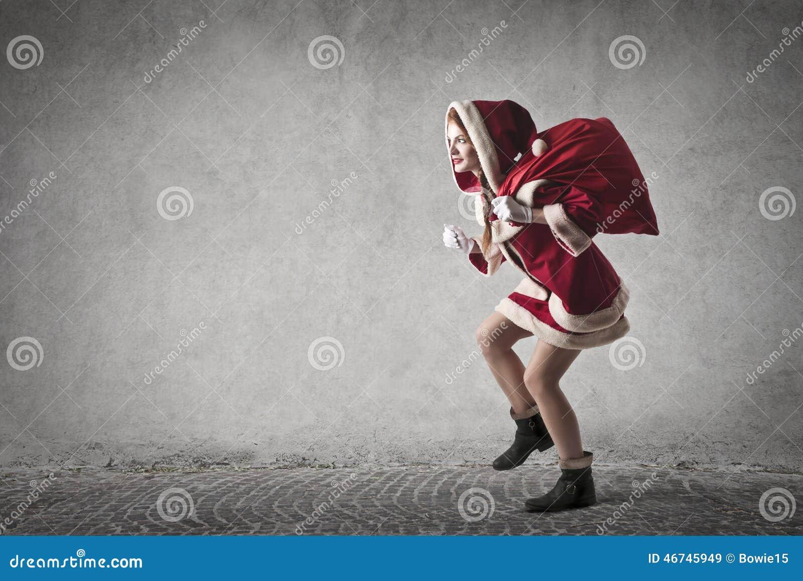 En förstulna Santa Claus