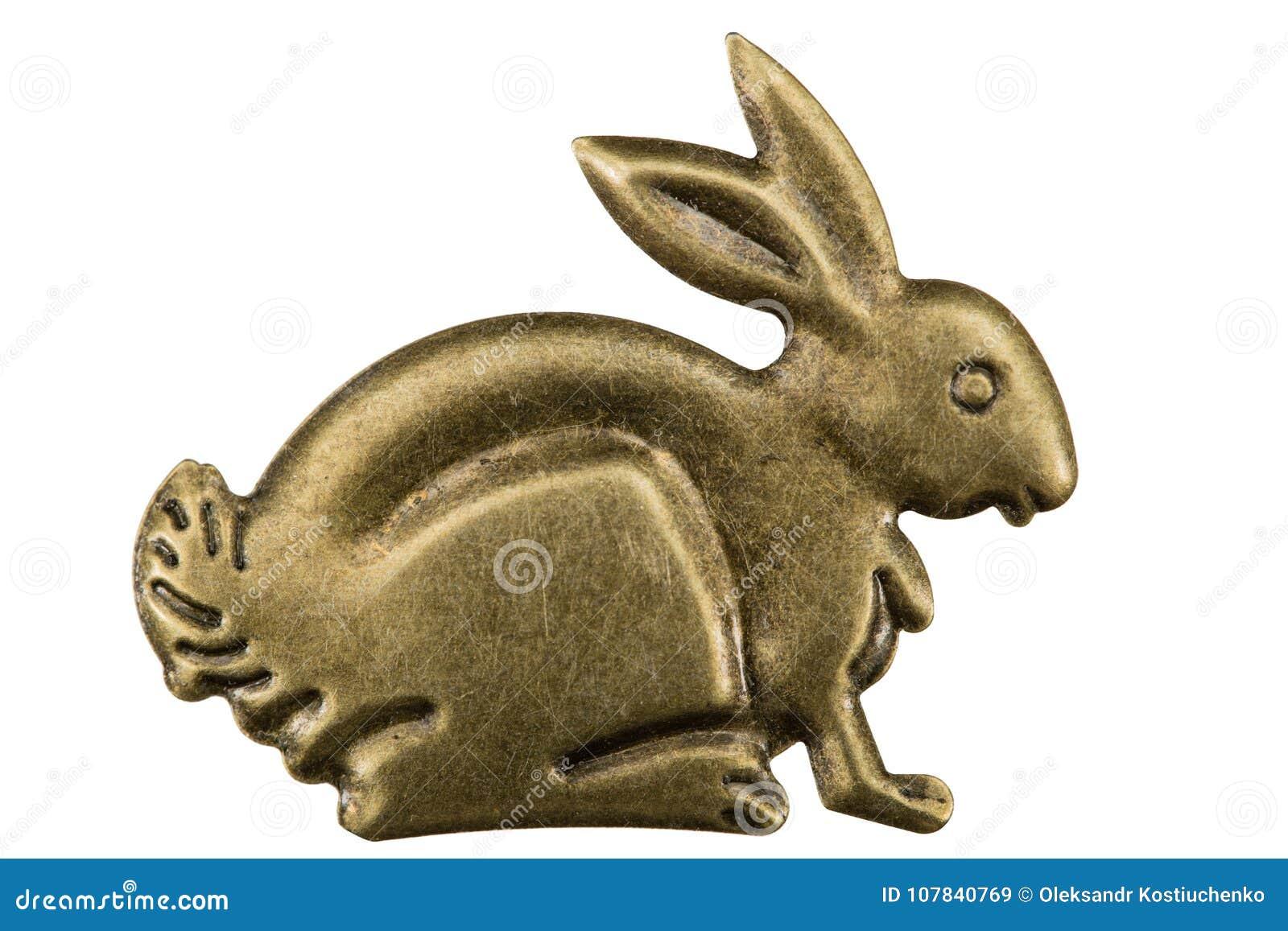 En filigrane sous forme de profil d un lièvre, élément décoratif
