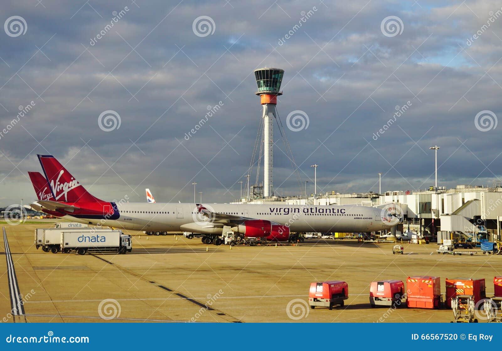 En flygbuss A330 från det brittiska flygbolaget Virgin Atlantic (VS)