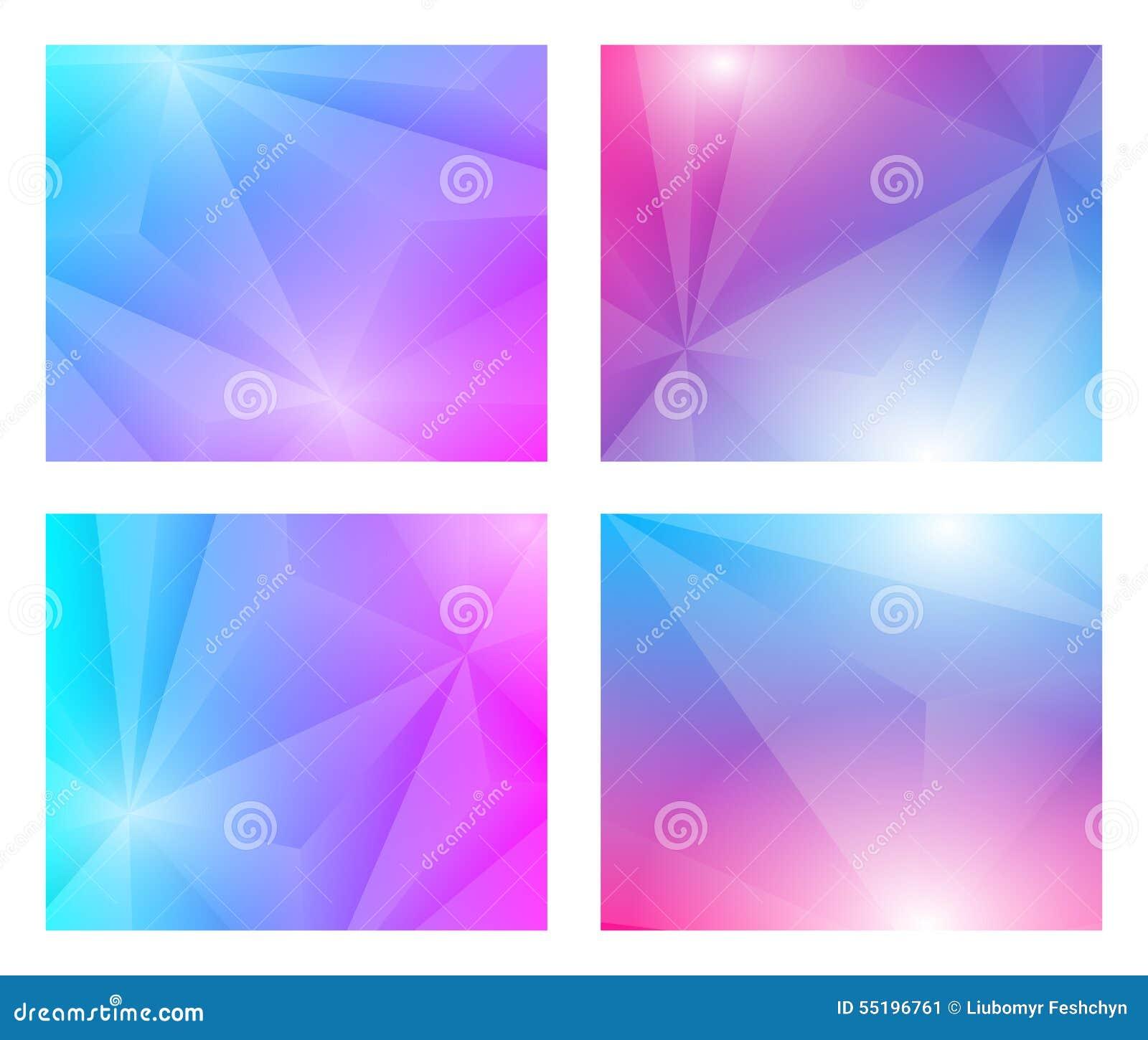 4 en 1 fondo geométrico de Poligon
