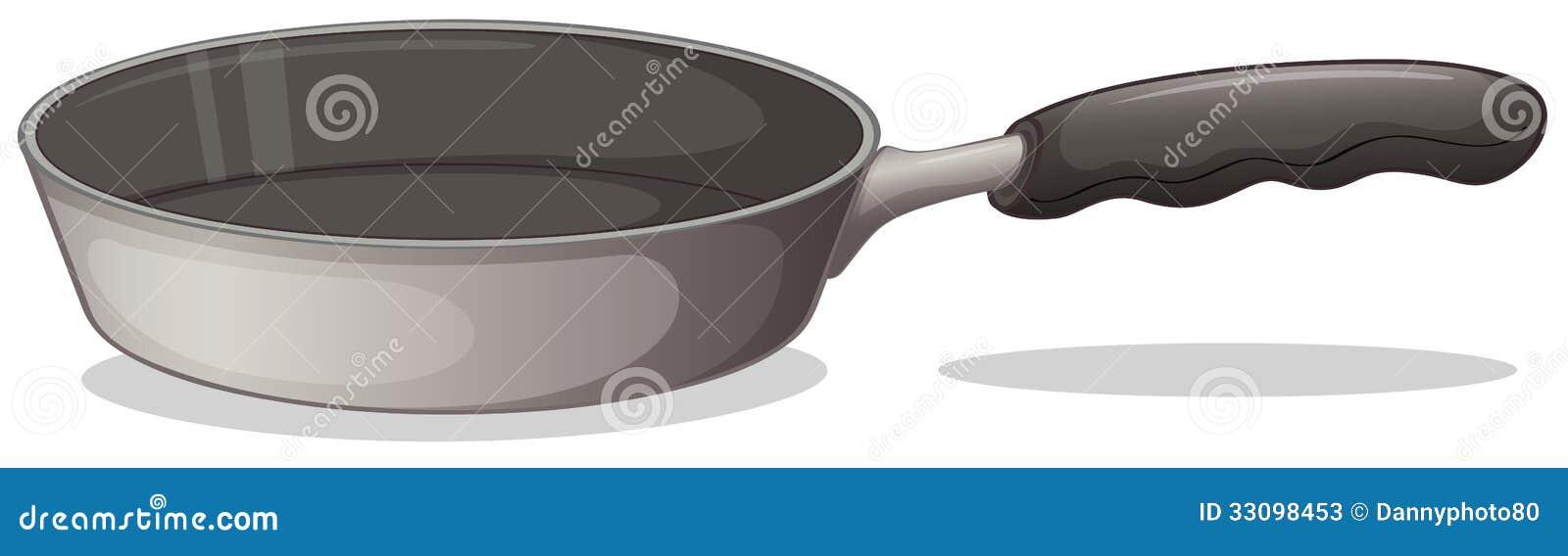 En grå matlagningpanna