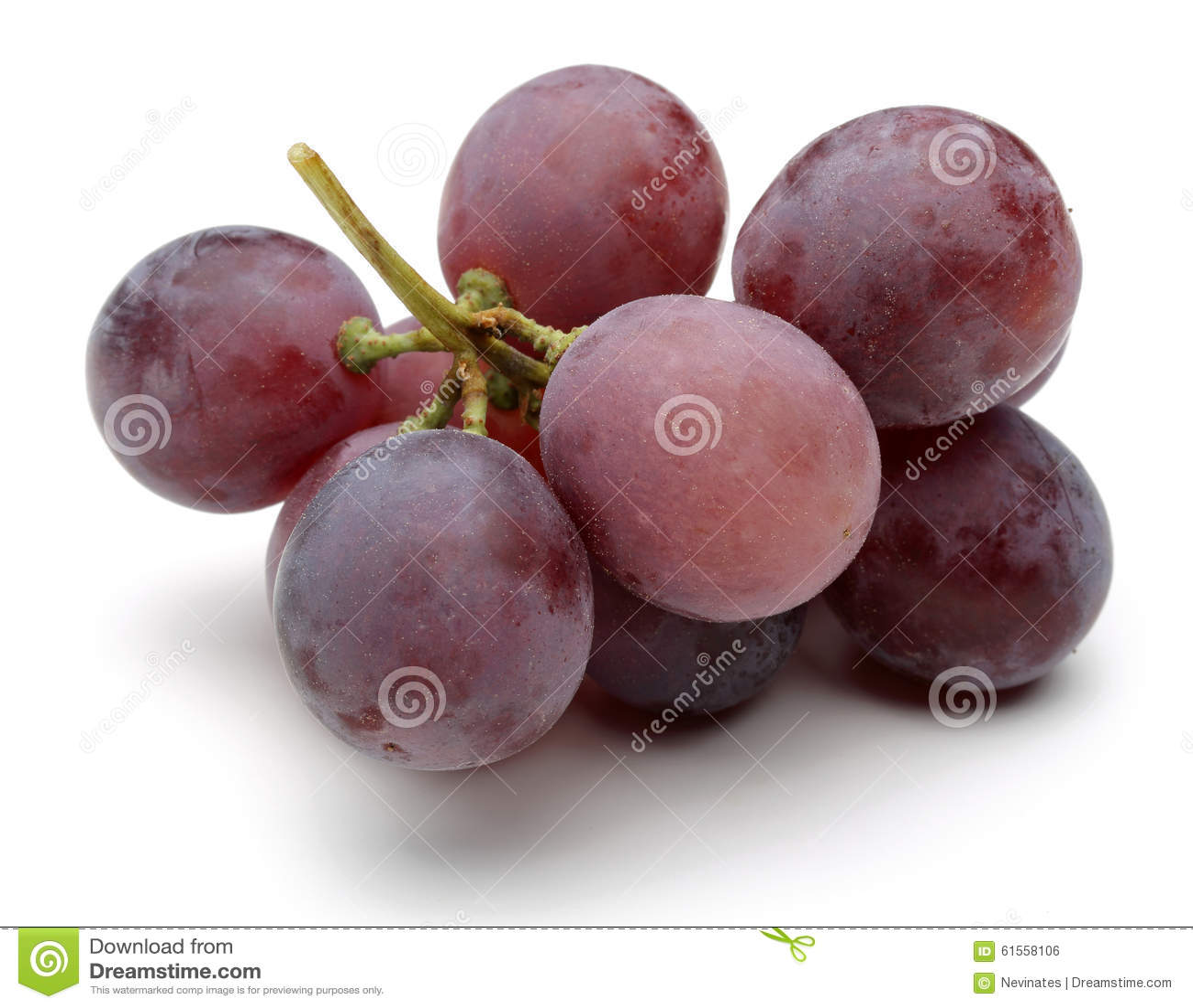 En grupp av röda druvor
