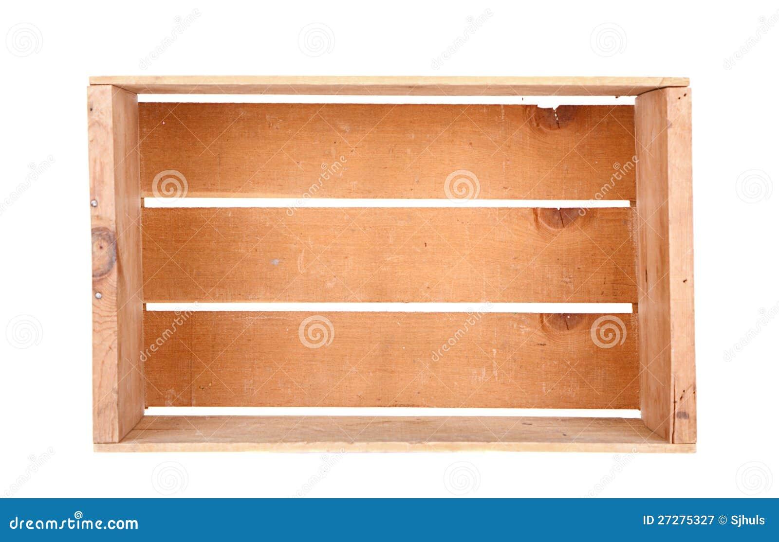 En isolerad enkel träspjällåda
