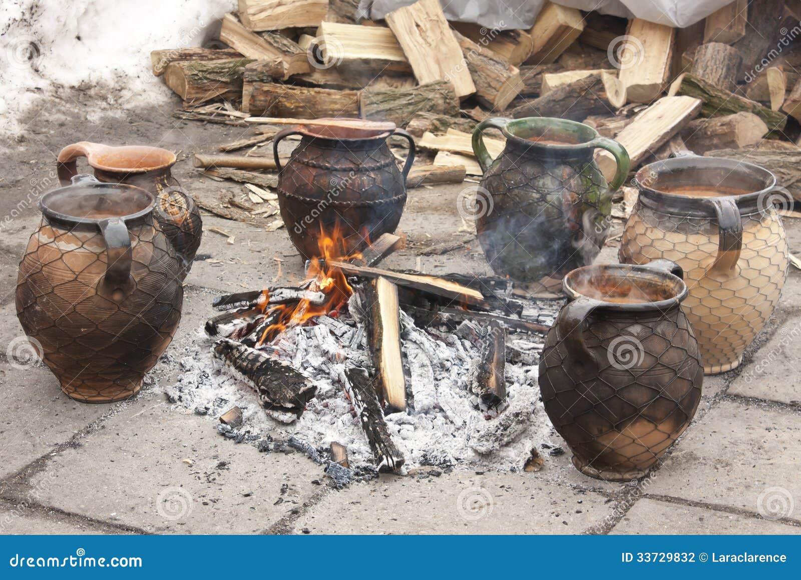 En jarra sopa cocinada