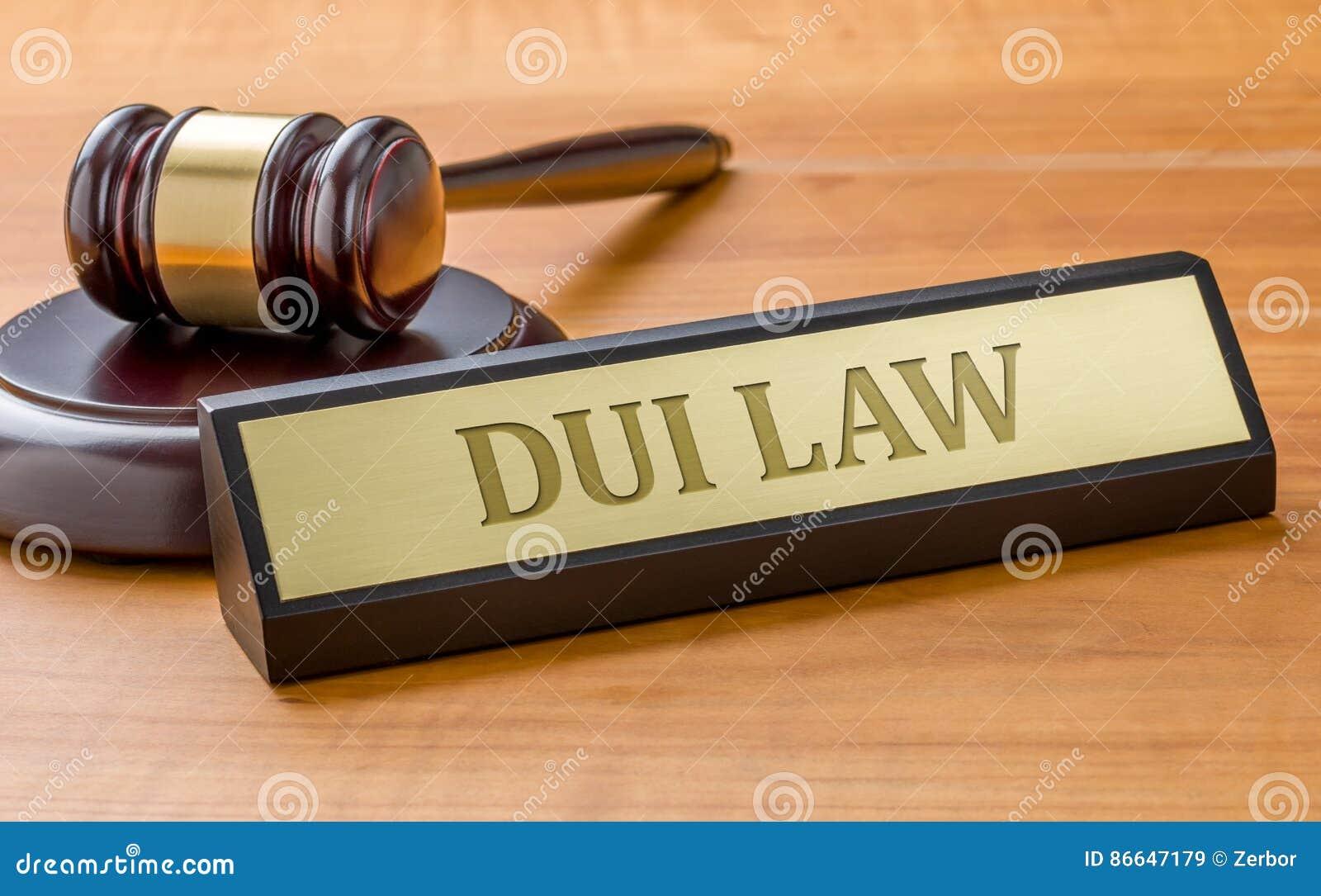 En känd platta med den inrista DUI-lagen