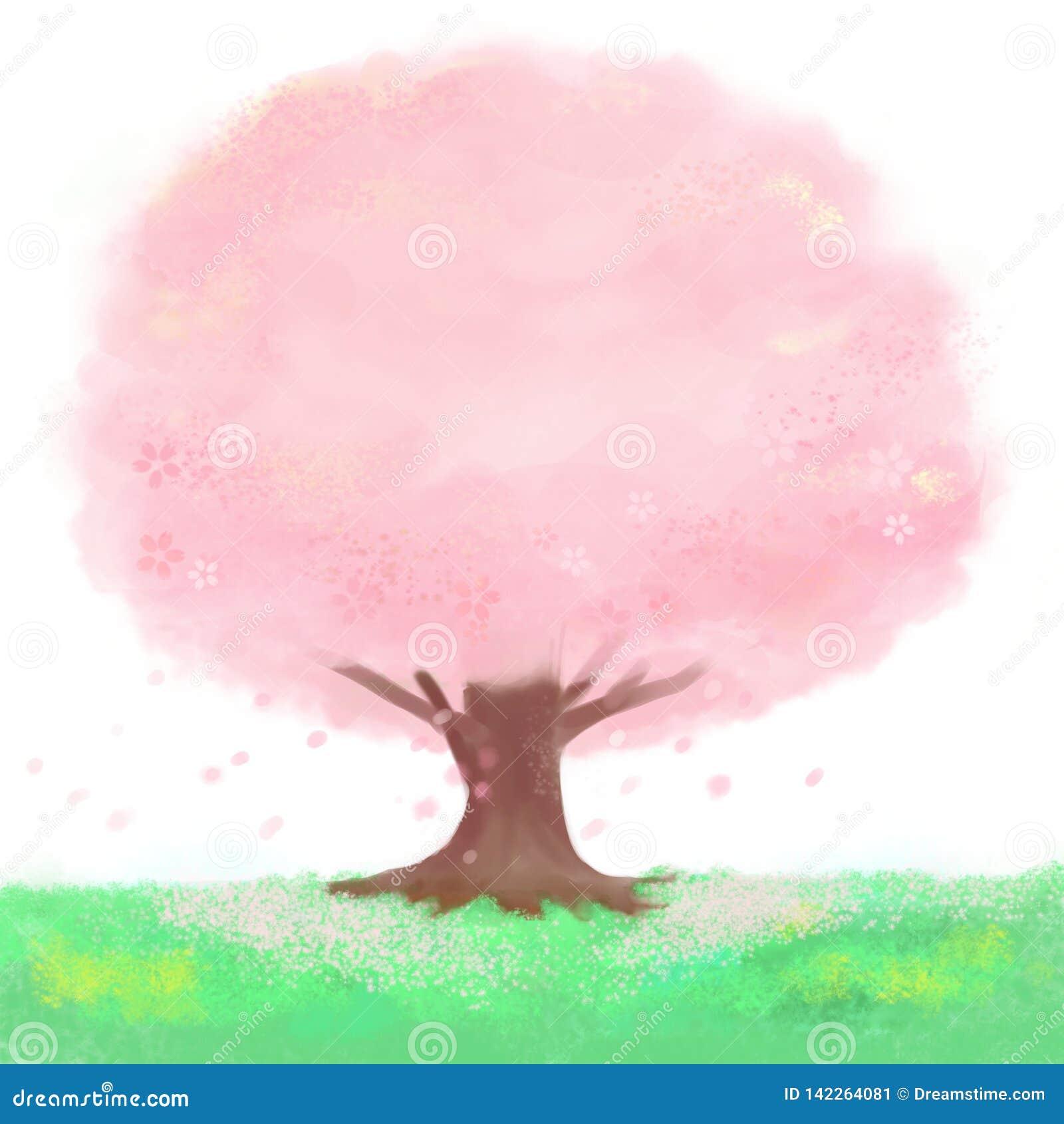 En körsbärsröd blomning för blom som är mycket härlig